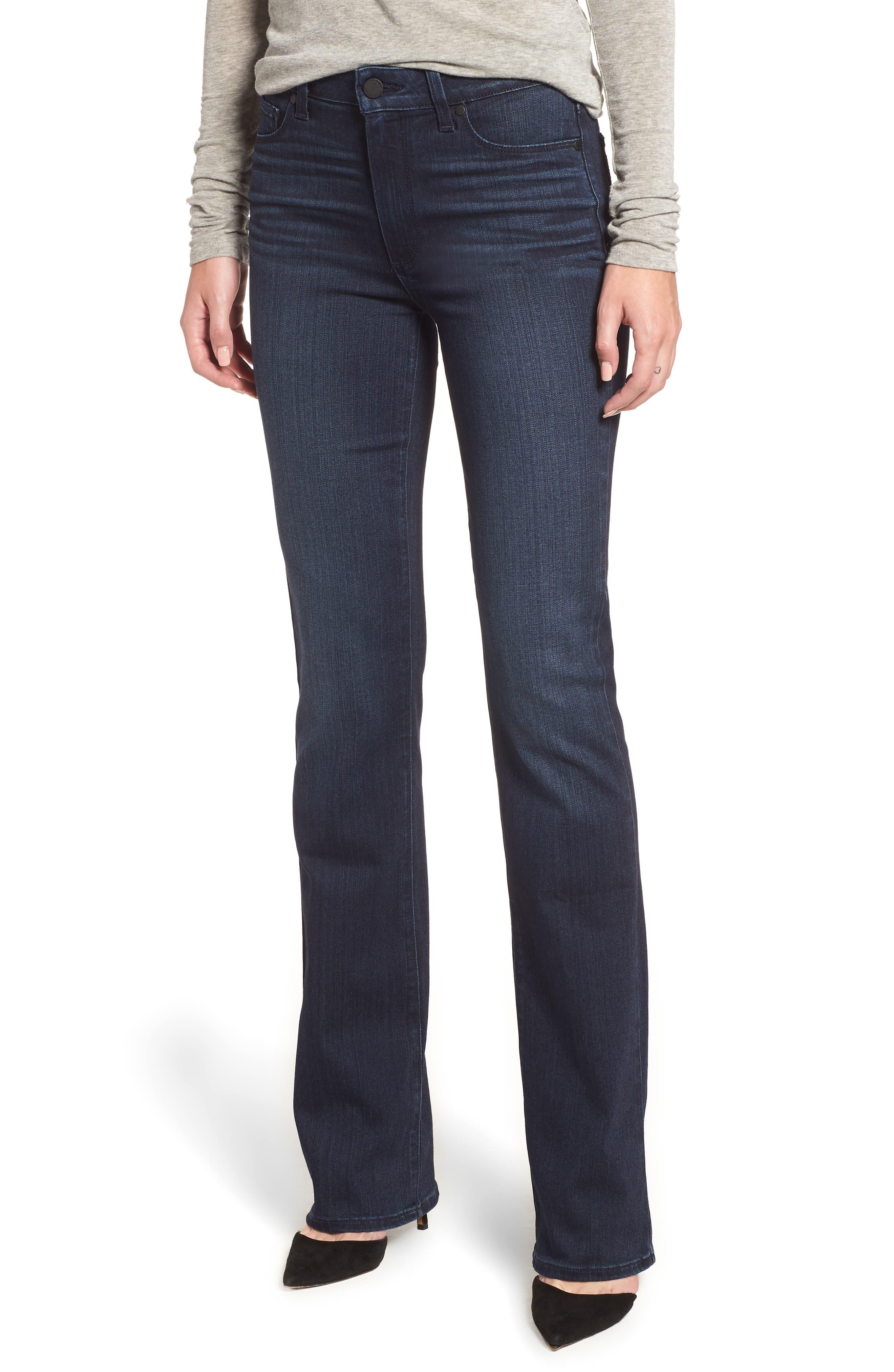 PAIGE, Manhattan High Waist Bootcut Jeans, Main thumbnail 1, color, ROSEVILLE