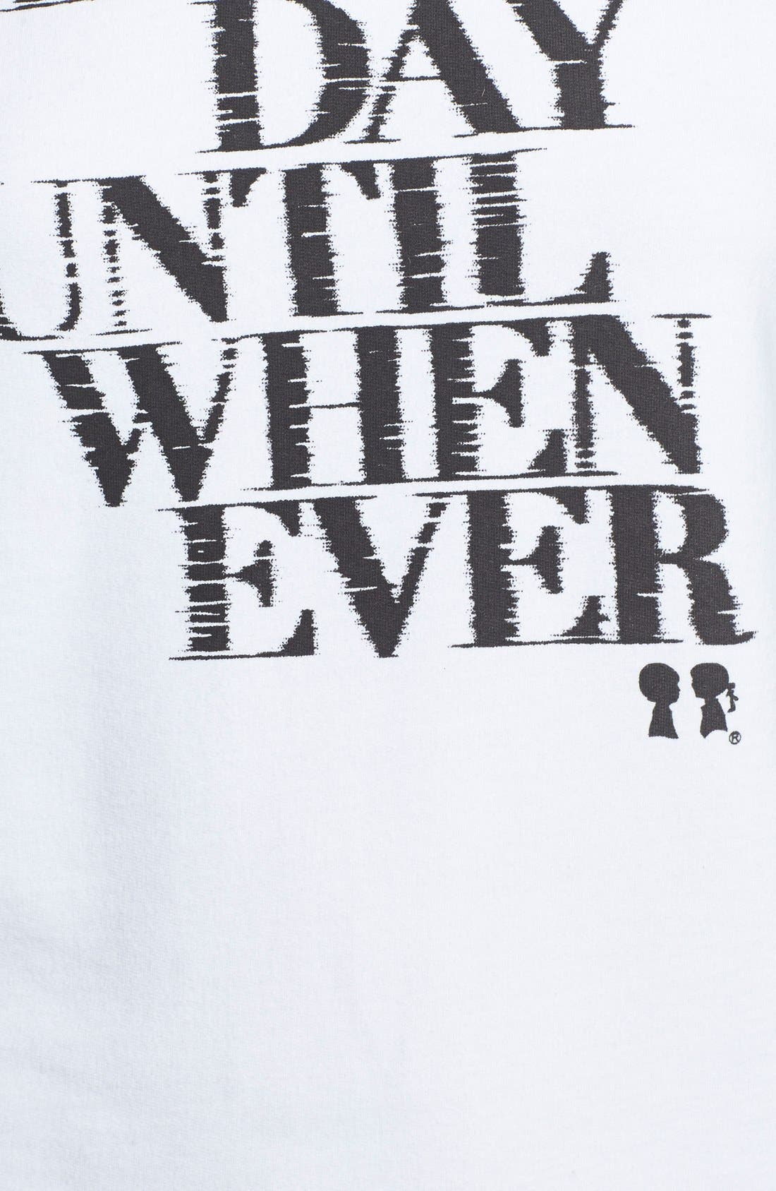 BOY MEETS GIRL, 'Every Day' Graphic French Terry Sweatshirt, Alternate thumbnail 2, color, 100
