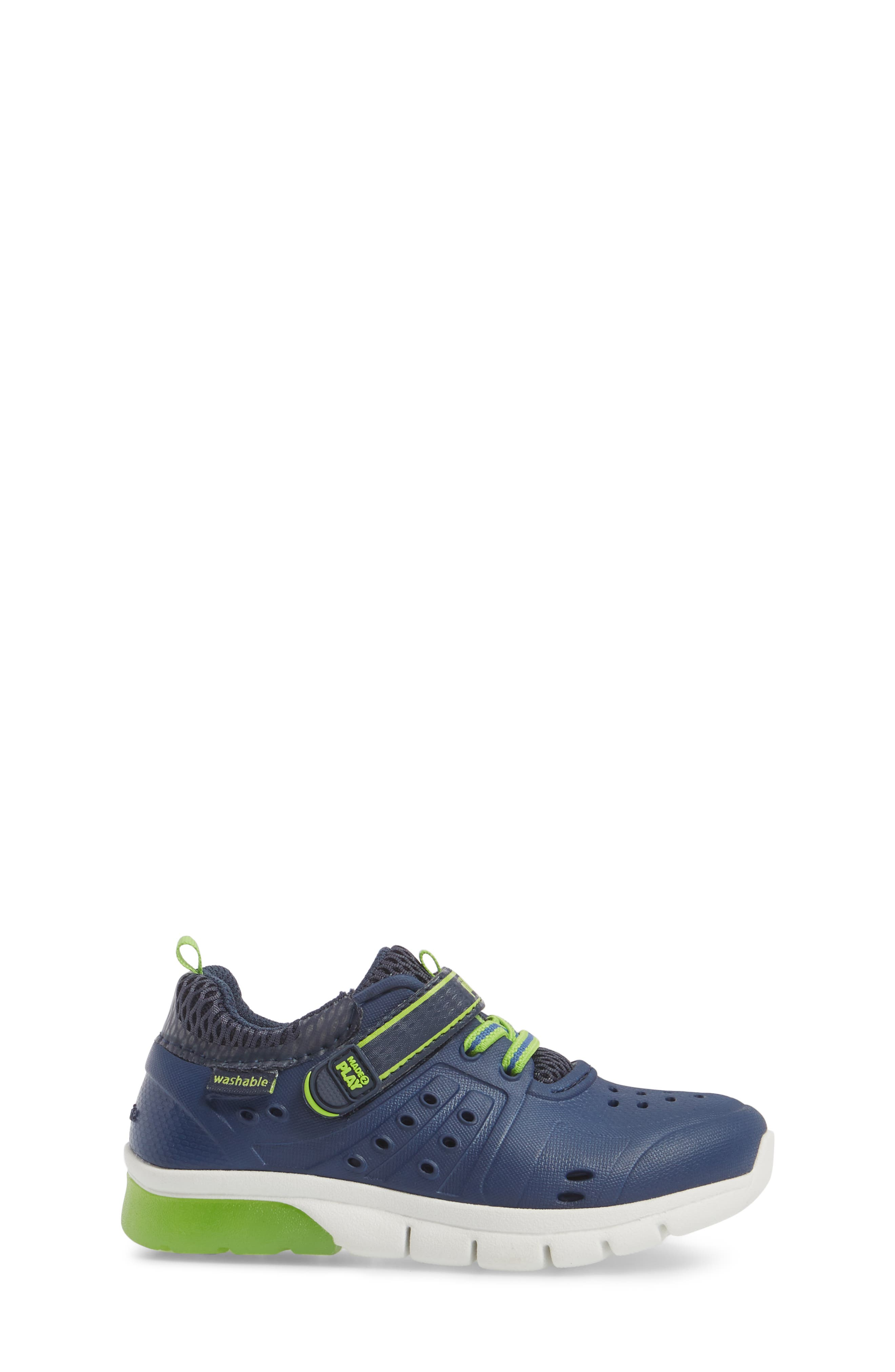 STRIDE RITE, Made2Play<sup>®</sup> Phibian Light-Up Sneaker, Alternate thumbnail 3, color, NAVY