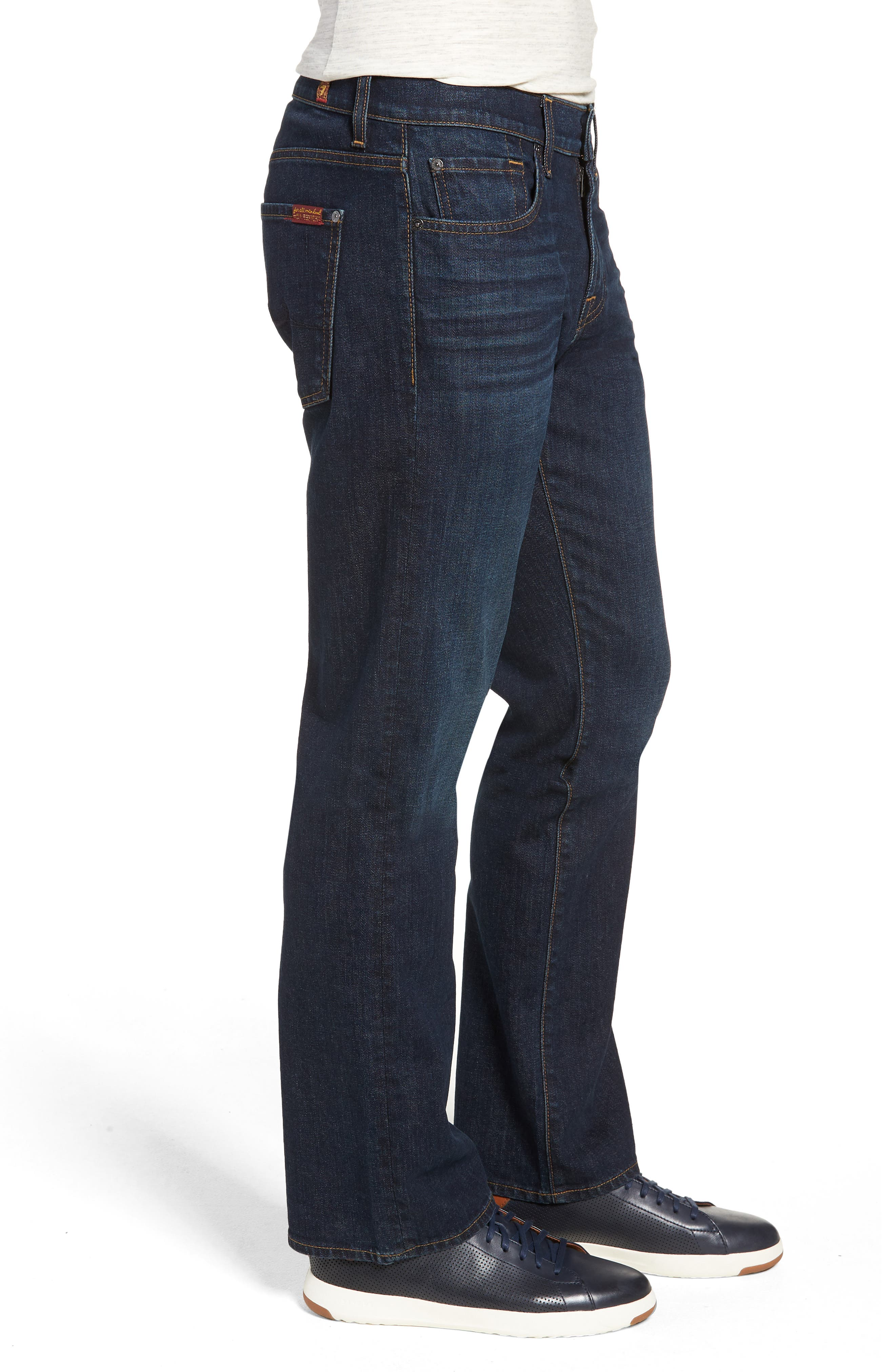 7 FOR ALL MANKIND<SUP>®</SUP>, Austyn Relaxed Straight Leg Jeans, Alternate thumbnail 4, color, ABERDEEN