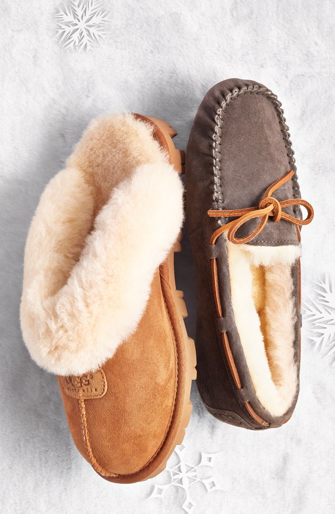 UGG<SUP>®</SUP>, Genuine Shearling Slipper, Alternate thumbnail 12, color, CHESTNUT