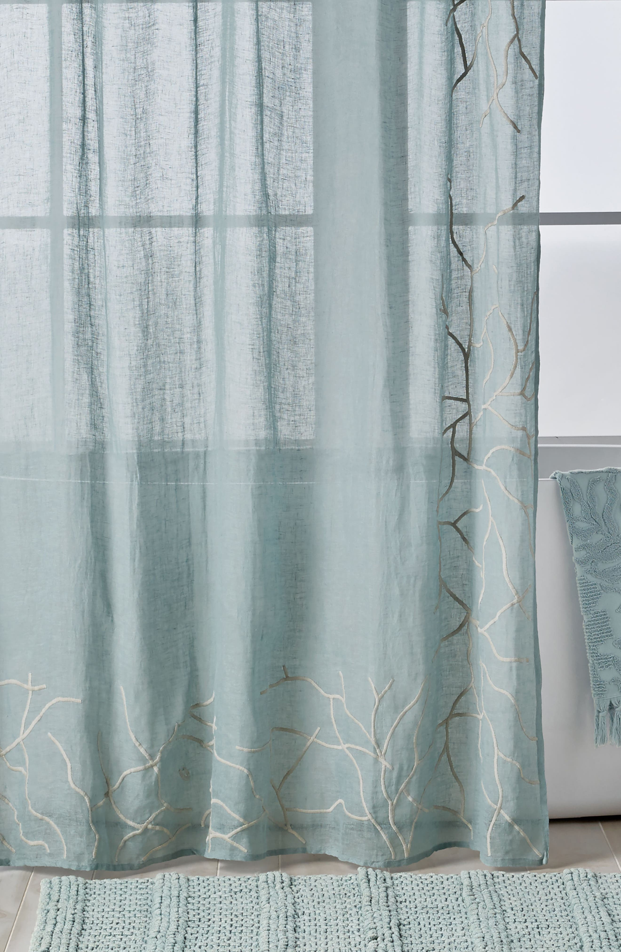 MICHAEL ARAM Ocean Reef Shower Curtain, Main, color, SEAFOAM