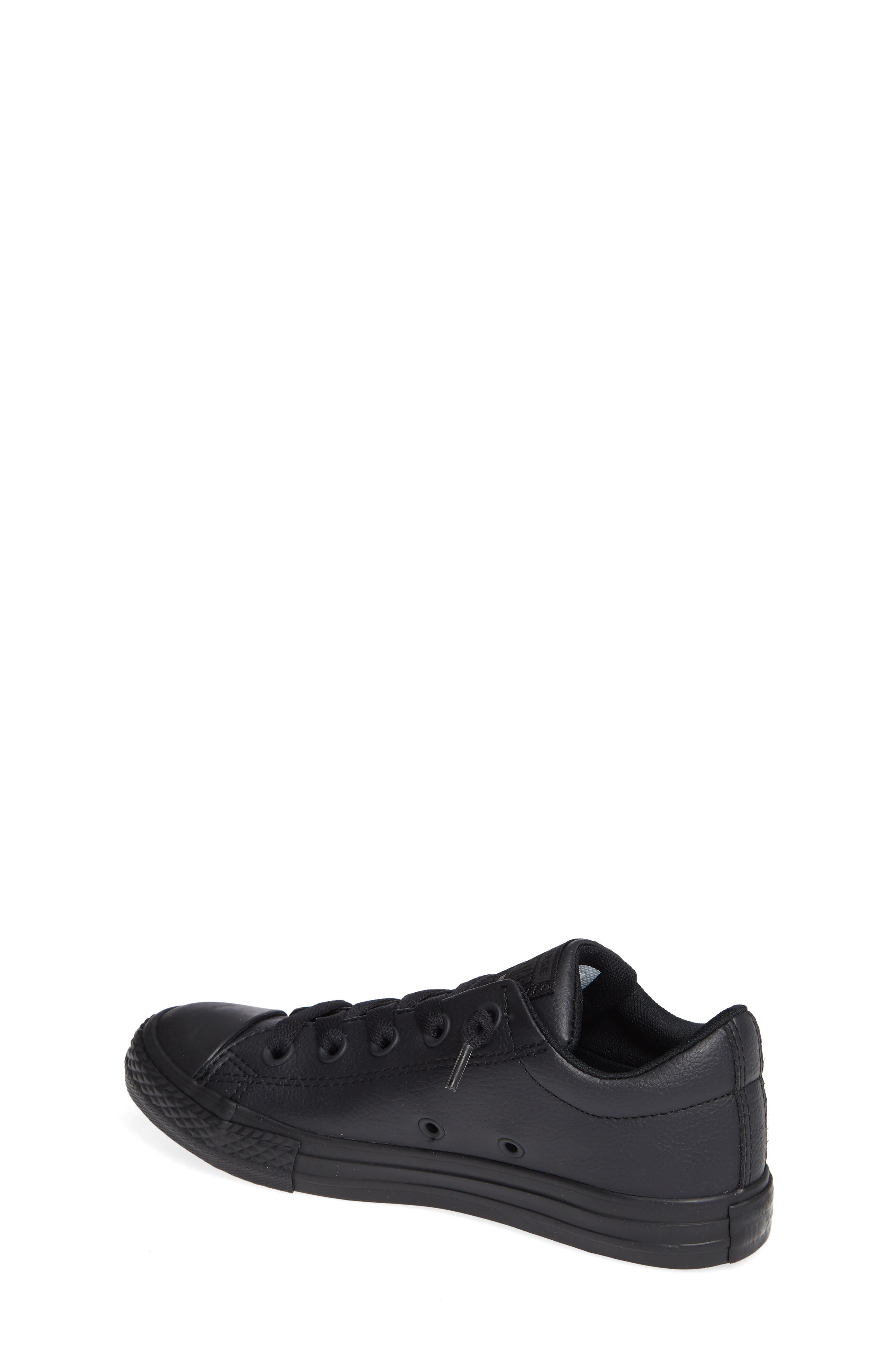 CONVERSE, Chuck Taylor<sup>®</sup> All Star<sup>®</sup> 'Street Ox' Sneaker, Alternate thumbnail 2, color, BLACK MONO