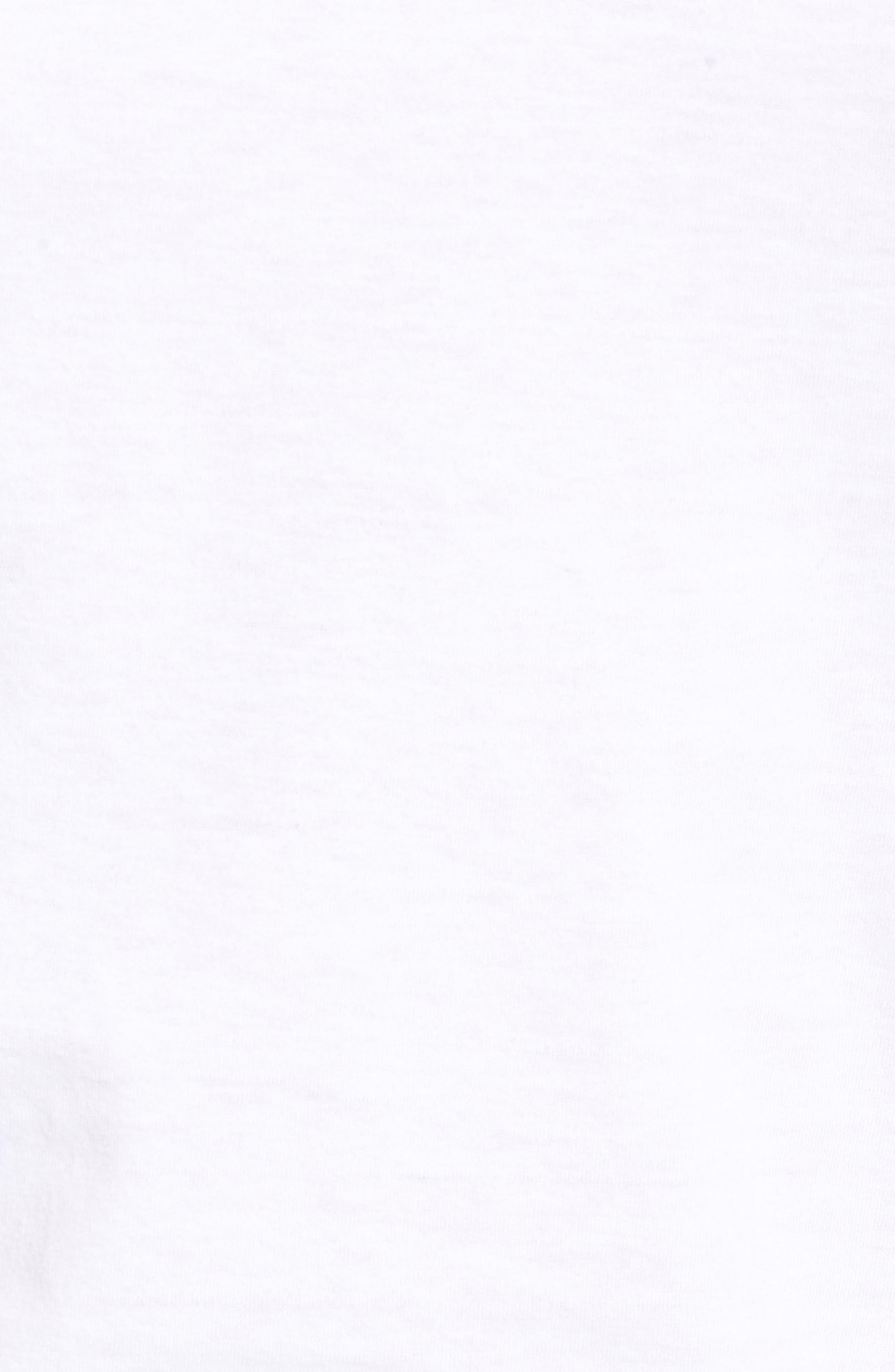 LAUREN RALPH LAUREN, Polo Ralph Lauren 3-Pack Slim Fit Crewneck T-Shirts, Alternate thumbnail 6, color, WHITE