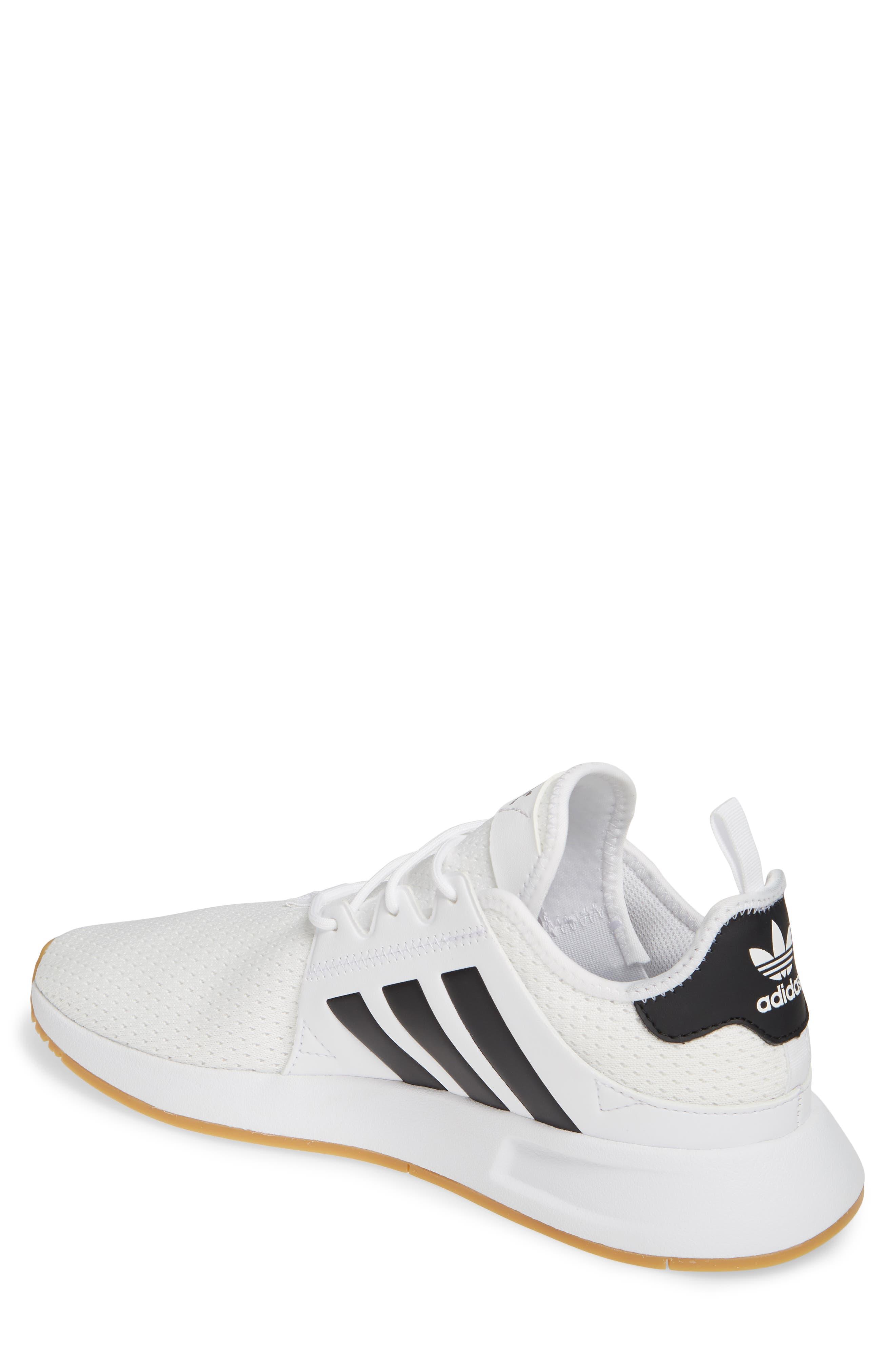 ADIDAS, X_PLR Sneaker, Alternate thumbnail 2, color, WHITE/ CORE BLACK/ GUM