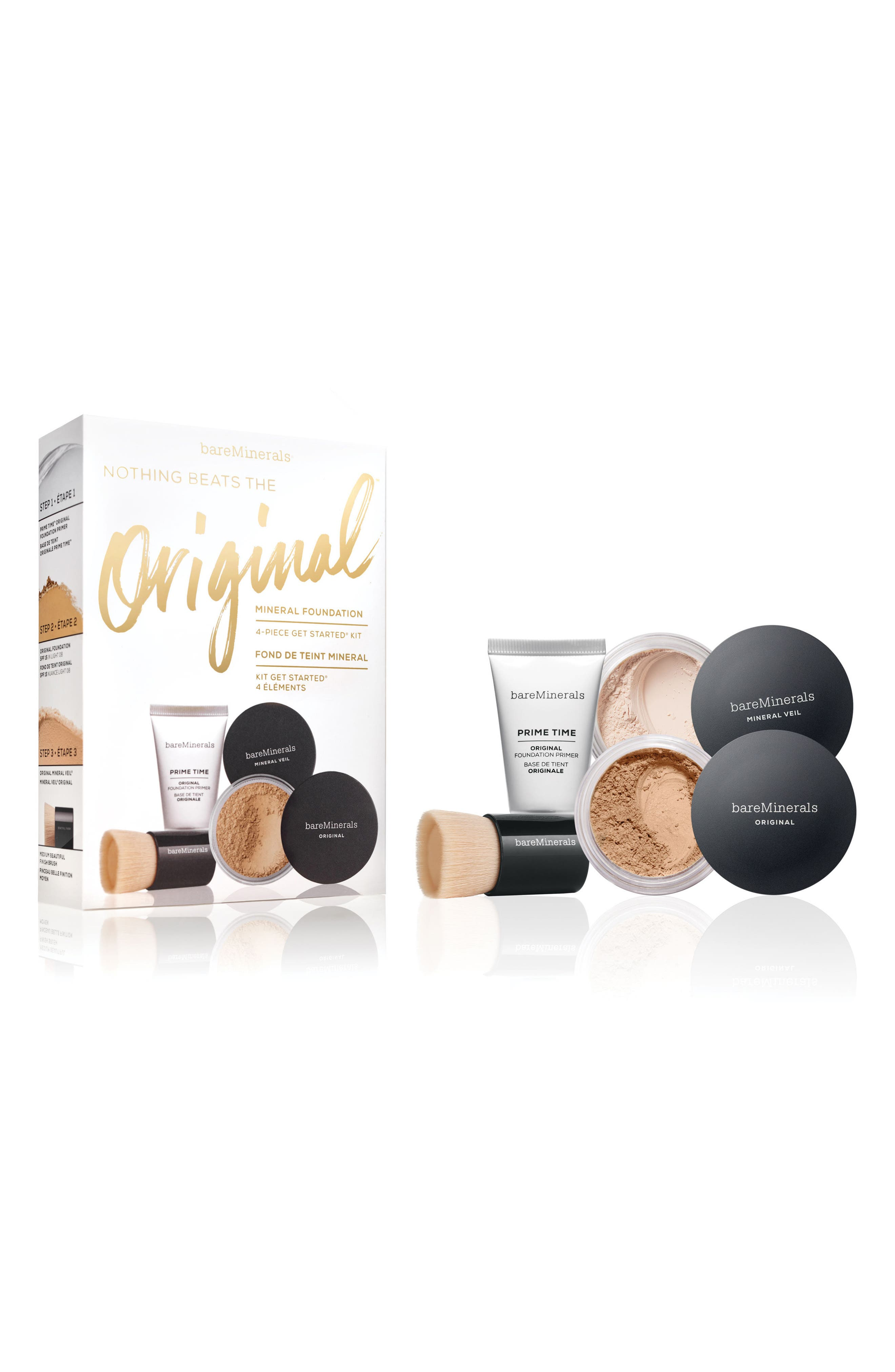 BAREMINERALS<SUP>®</SUP>, Nothing Beats the Original<sup>™</sup> 4-Piece Get Started Kit, Alternate thumbnail 2, color, MEDIUM BEIGE 12