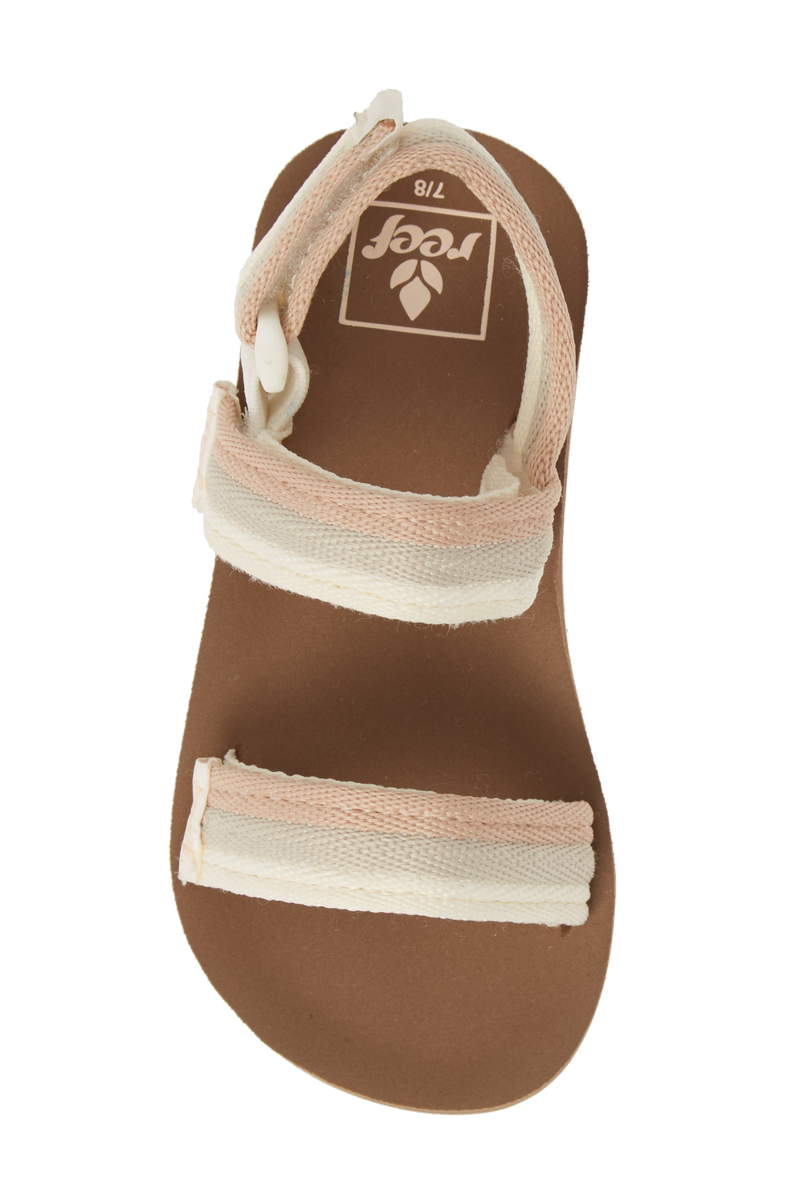 REEF, Little Ahi Convertible Sandal, Alternate thumbnail 5, color, SANDY TOES