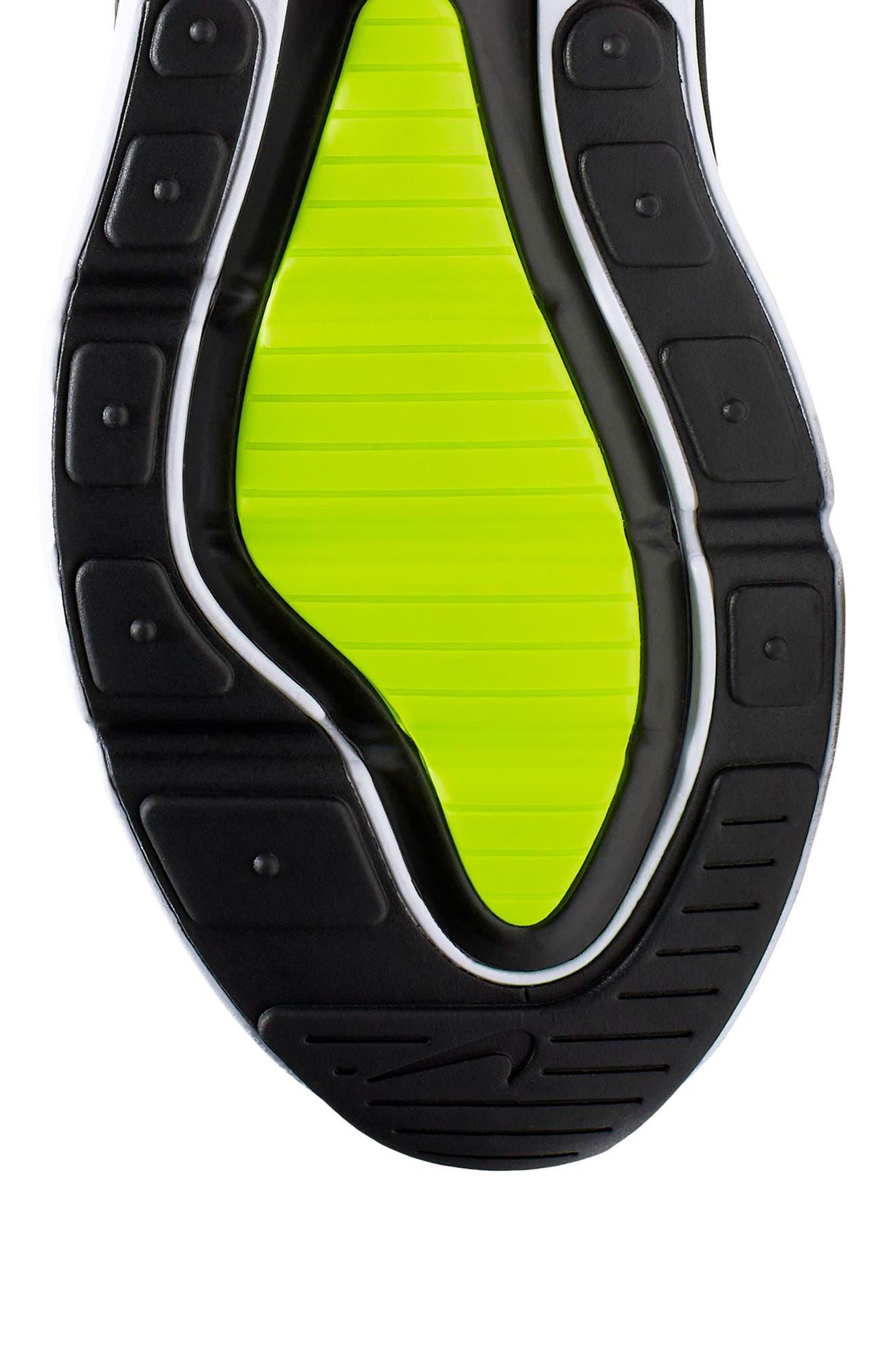NIKE, Air Max 270 Sneaker, Alternate thumbnail 4, color, WHITE/ VOLT/ BLACK/ FUCHSIA