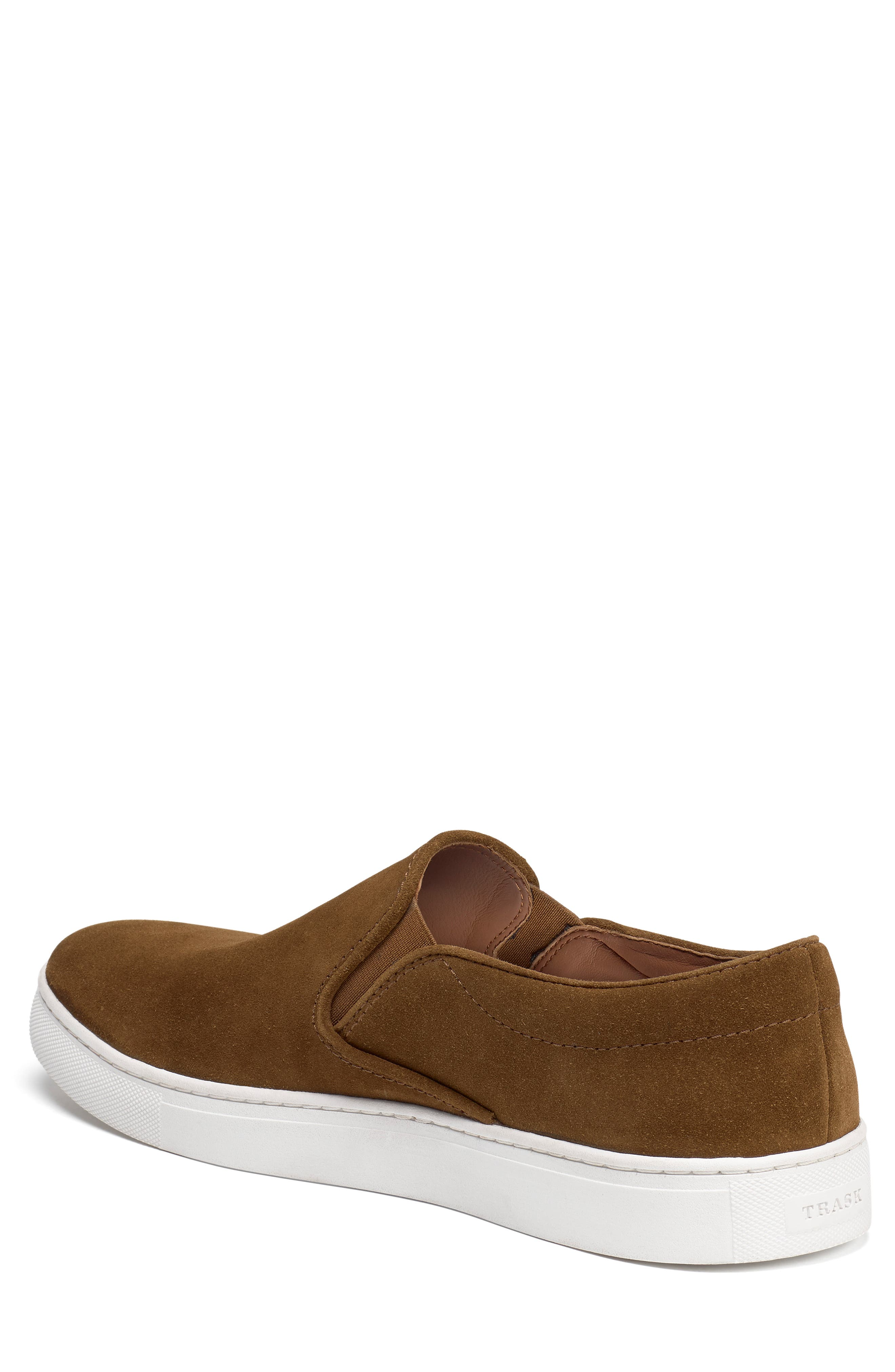 TRASK, Alex Slip-On Sneaker, Alternate thumbnail 2, color, SNUFF SUEDE