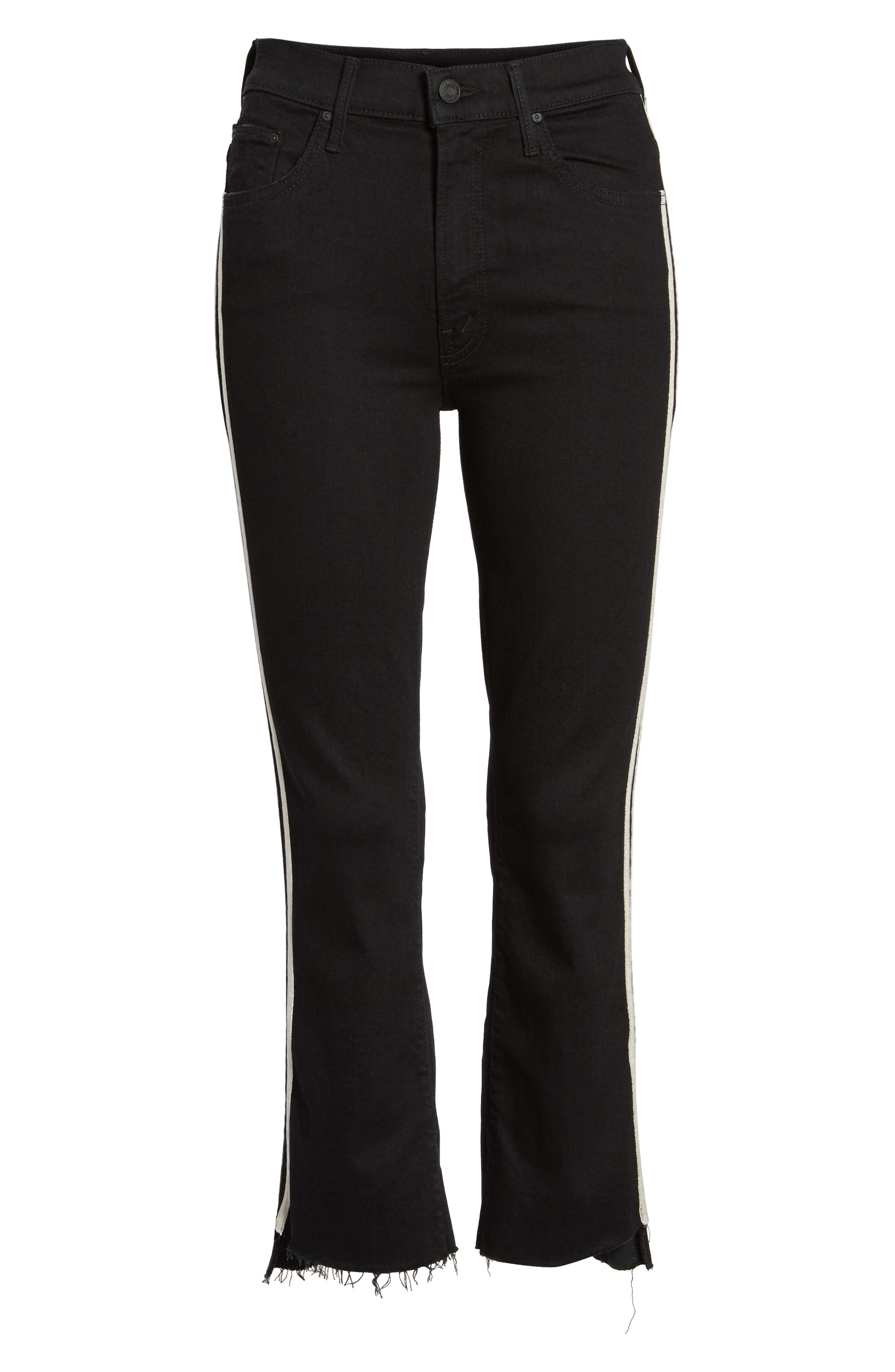 MOTHER, The Insider Crop Jeans, Alternate thumbnail 7, color, GUILTY RACER