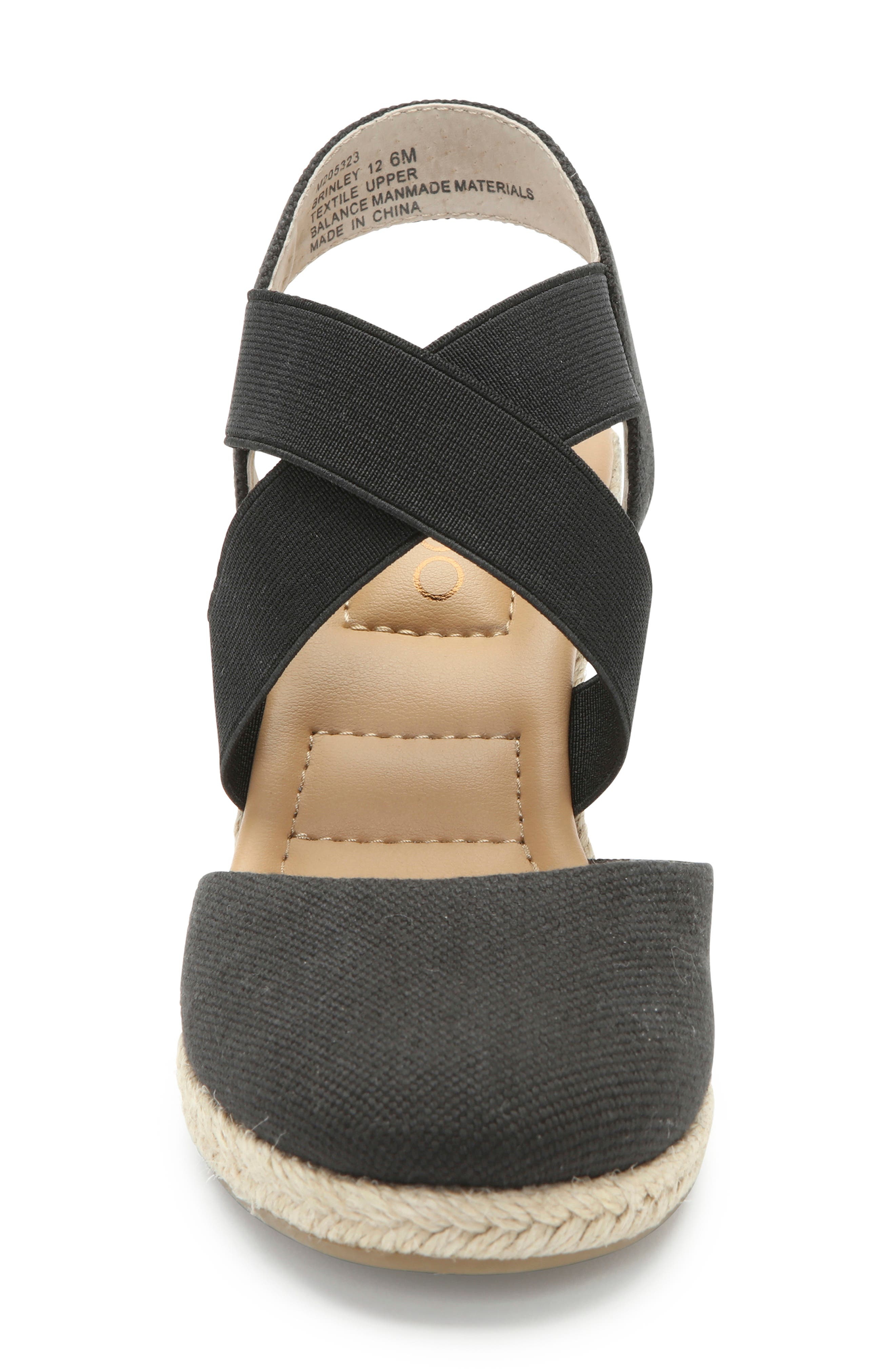 ME TOO, Brinley Espadrille Wedge, Alternate thumbnail 4, color, BLACK CANVAS