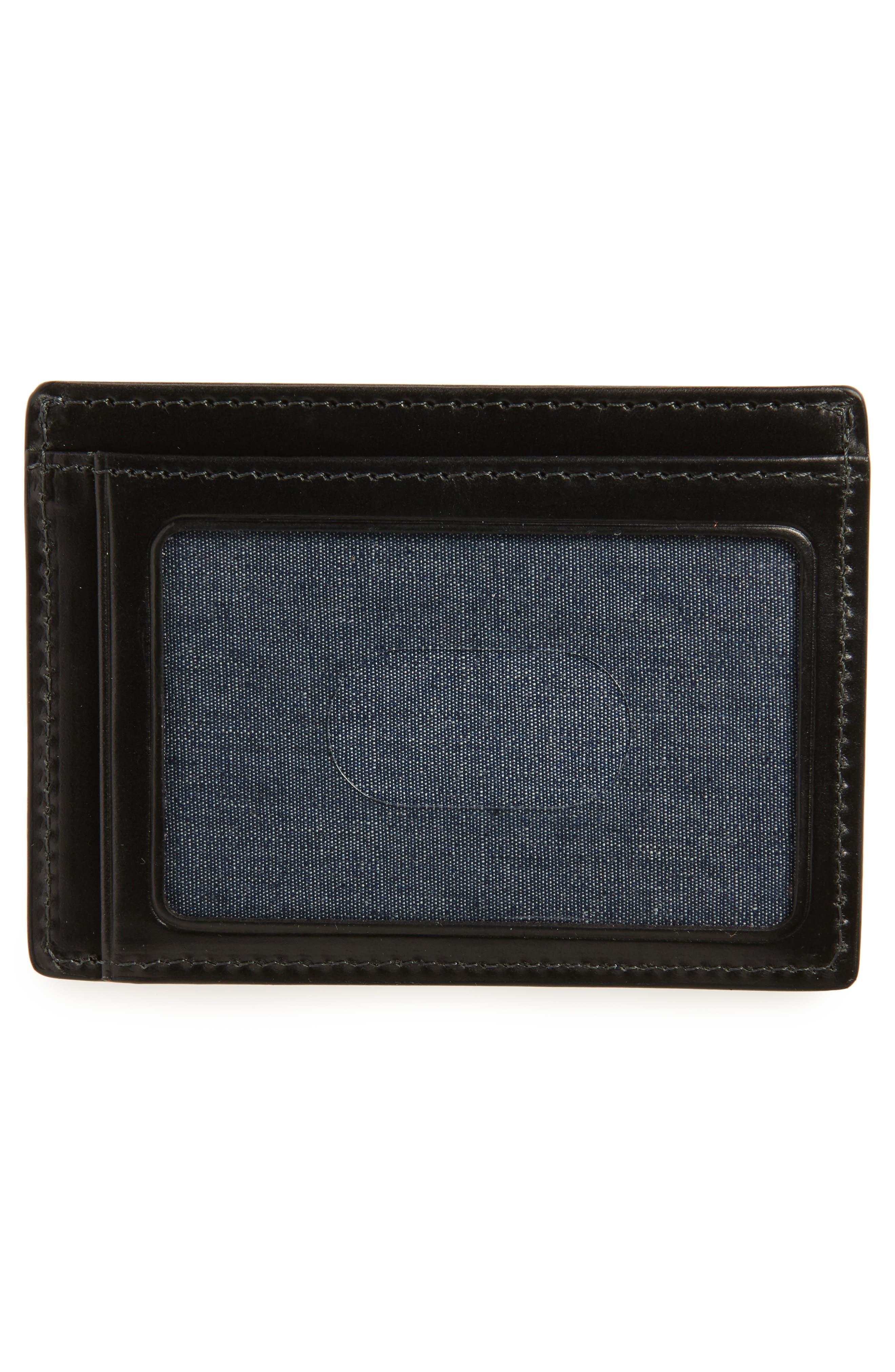 NORDSTROM MEN'S SHOP, Wyatt RFID Card Case, Alternate thumbnail 2, color, BLACK