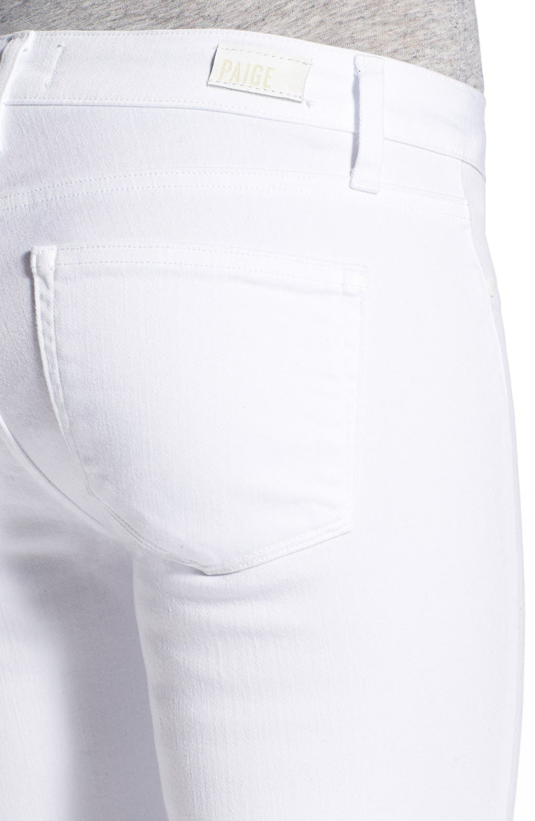 PAIGE, 'Verdugo' Ankle Skinny Jeans, Alternate thumbnail 2, color, ULTRA WHITE