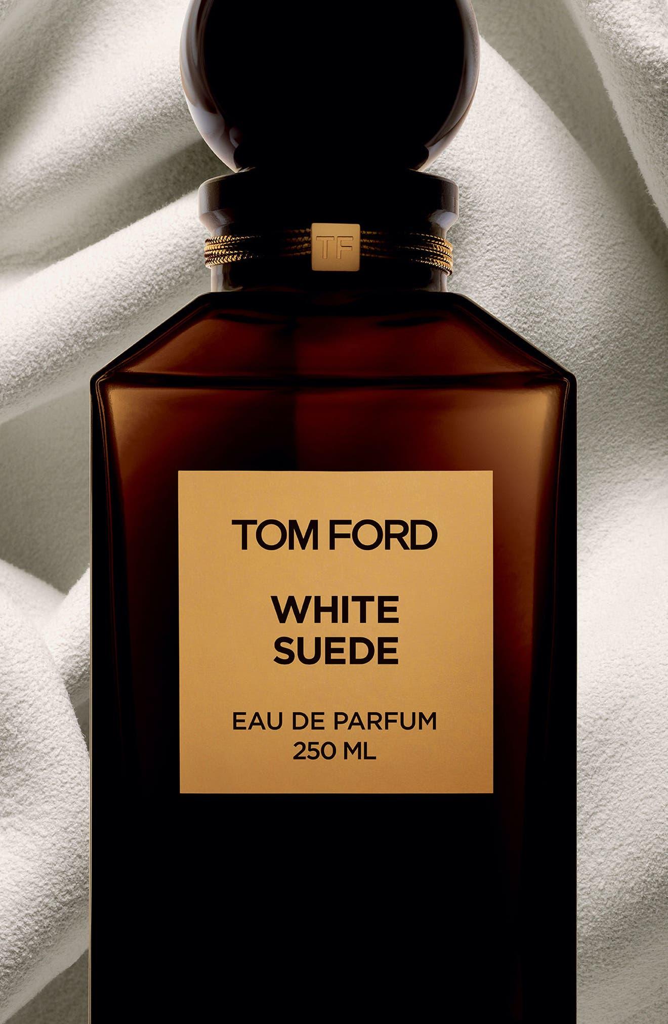 TOM FORD, Private Blend White Suede Eau de Parfum, Alternate thumbnail 4, color, NO COLOR