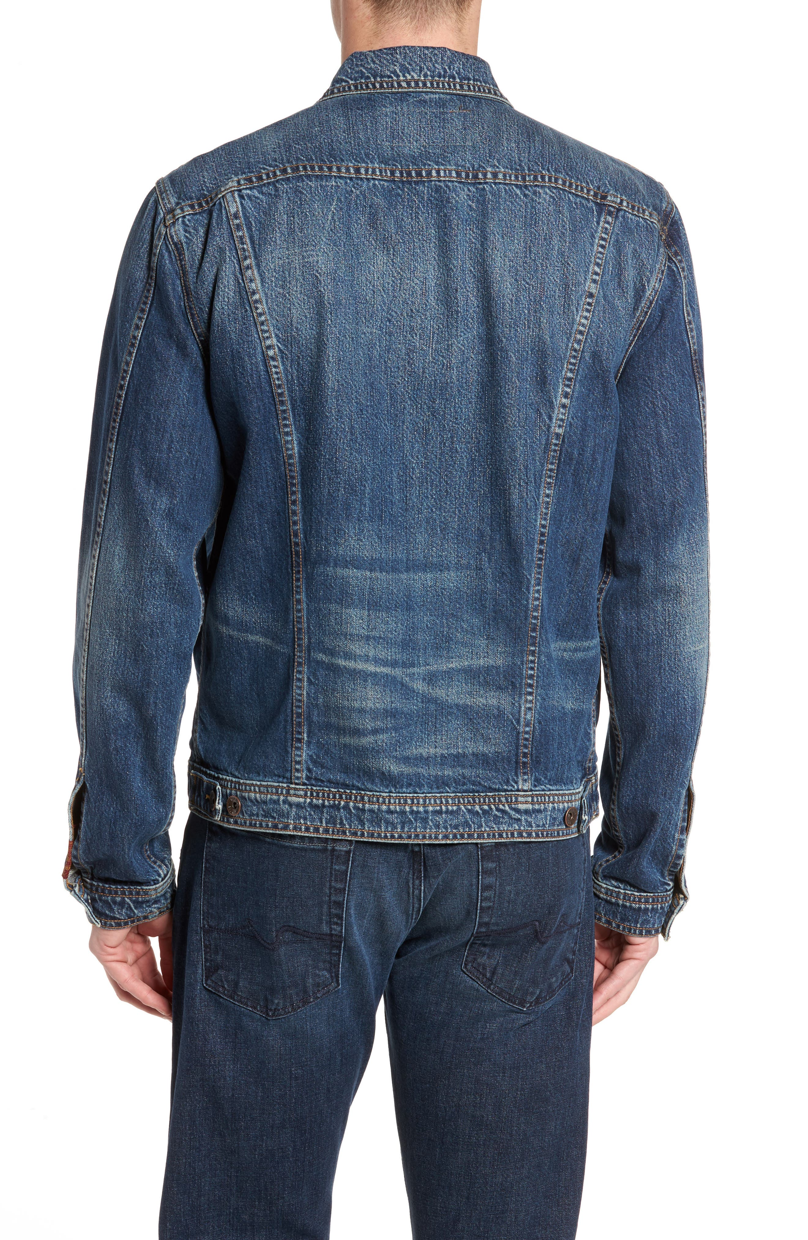 7 FOR ALL MANKIND<SUP>®</SUP>, Trucker Jacket, Alternate thumbnail 2, color, LEGEND