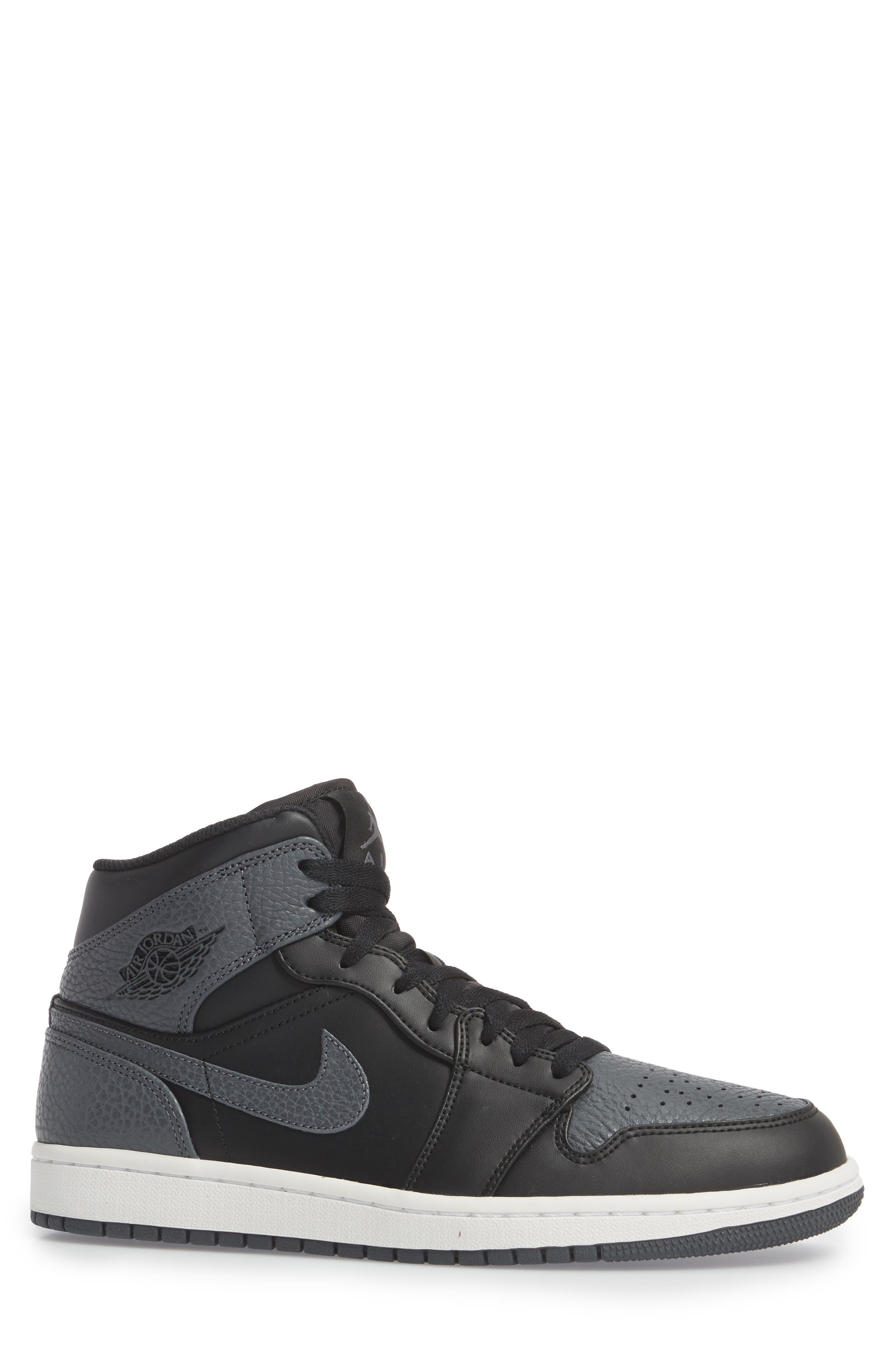 NIKE, 'Air Jordan 1 Mid' Sneaker, Alternate thumbnail 3, color, 001