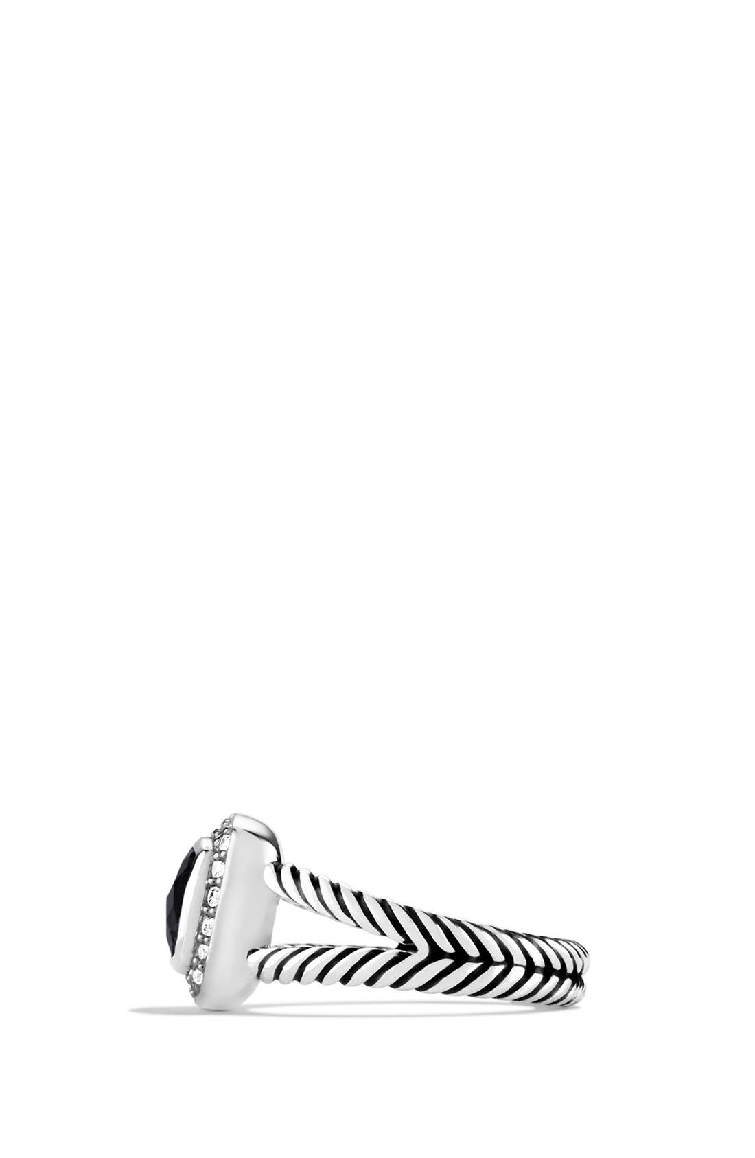 DAVID YURMAN, 'Albion' Petite Ring with Semiprecious Stone & Diamonds, Alternate thumbnail 5, color, BLACK ONYX