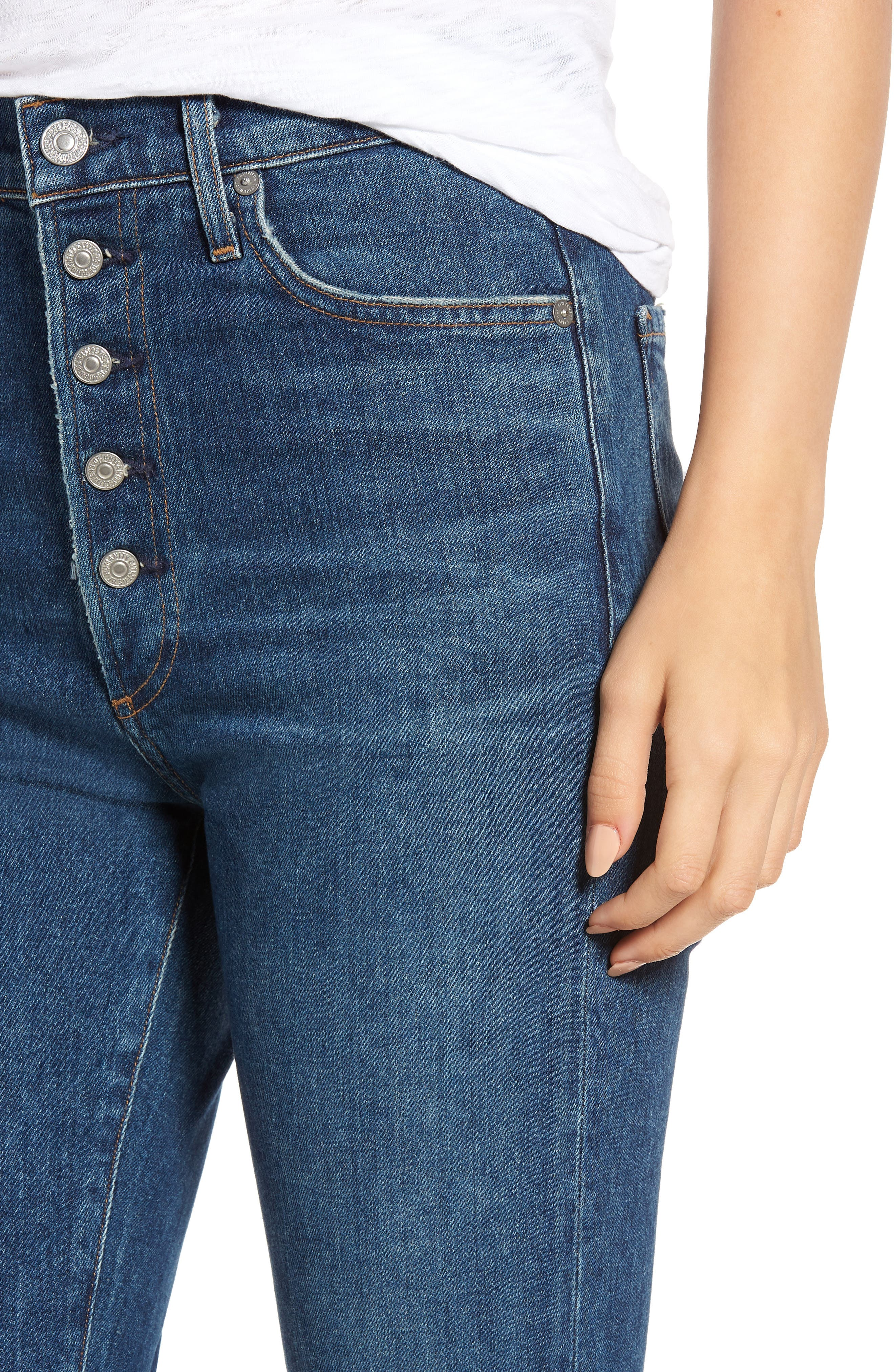 CITIZENS OF HUMANITY, Olivia High Waist Slim Jeans, Alternate thumbnail 5, color, CIRCA