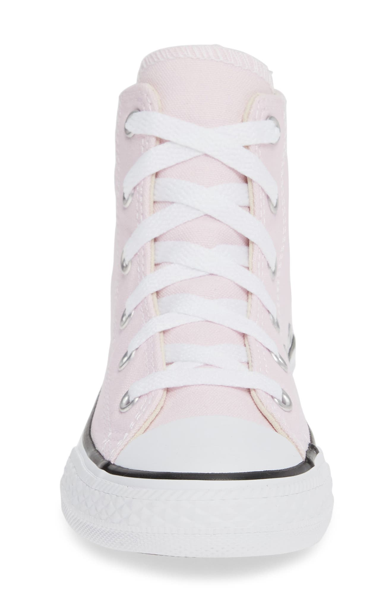 CONVERSE, Chuck Taylor<sup>®</sup> High Top Sneaker, Alternate thumbnail 4, color, PINK FOAM/ IVORY/ WHITE