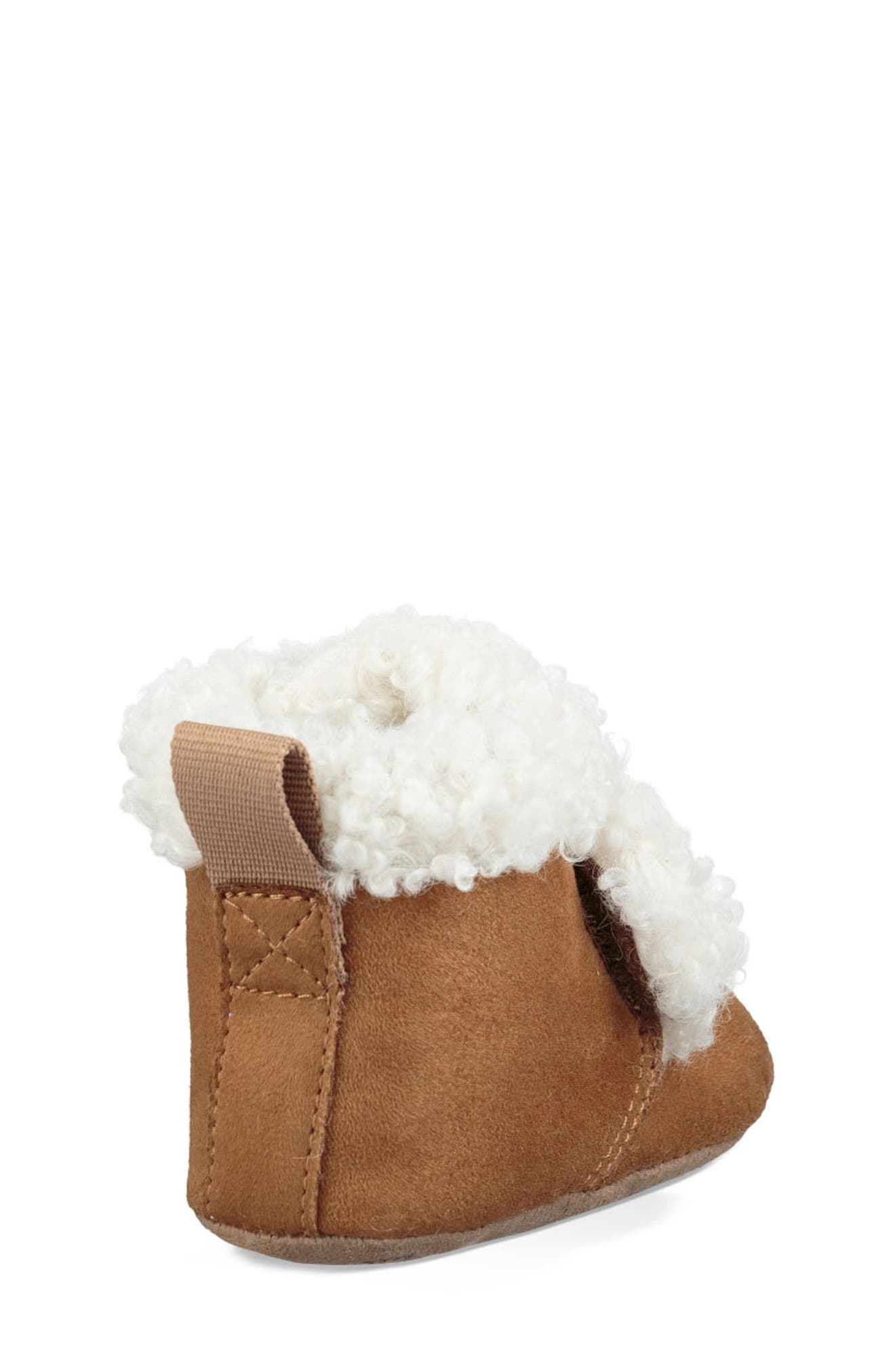 UGG<SUP>®</SUP>, Mini Faux Shearling Bootie, Alternate thumbnail 2, color, CHESTNUT