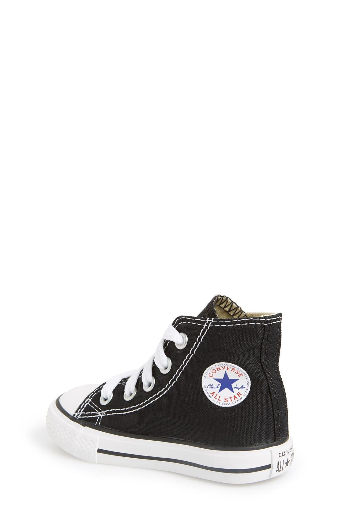 CONVERSE, All Star<sup>®</sup> High Top Sneaker, Alternate thumbnail 2, color, BLACK