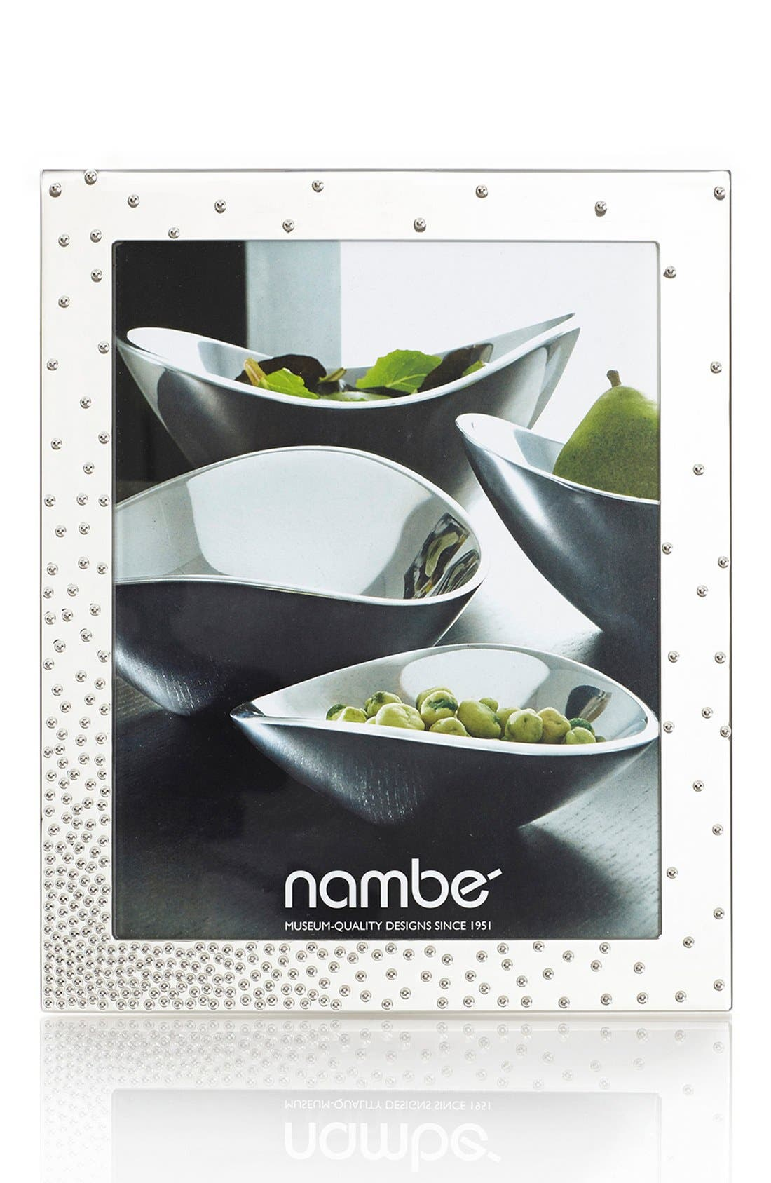 NAMBÉ, Nambe Dazzle Picture Frame, Main thumbnail 1, color, SILVER