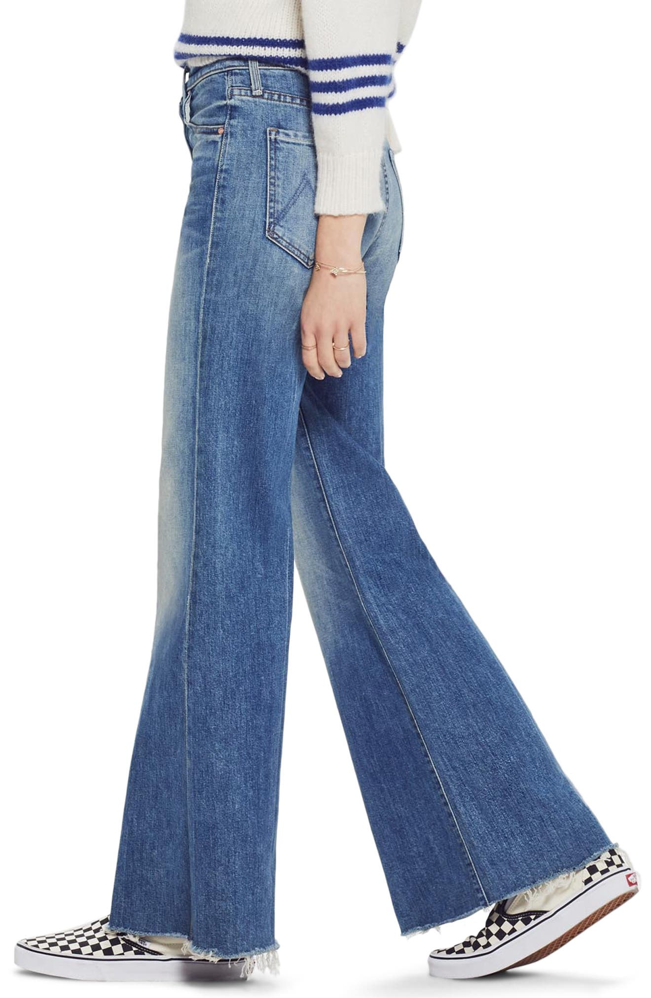 MOTHER, The Tomcat Roller Fray Jeans, Alternate thumbnail 4, color, SACRED