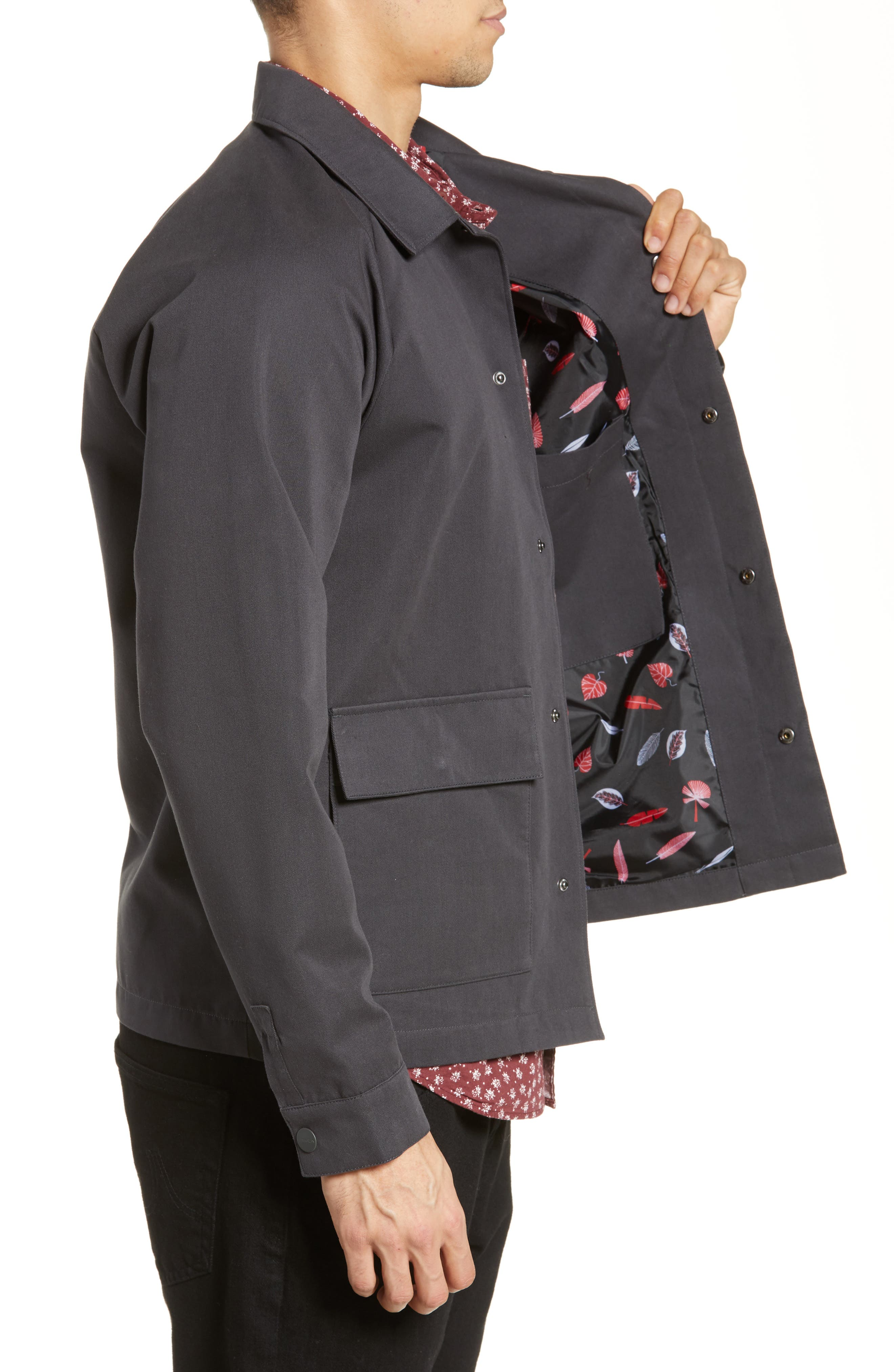 RVCA, Gerrard Jacket, Alternate thumbnail 4, color, PIRATE BLACK