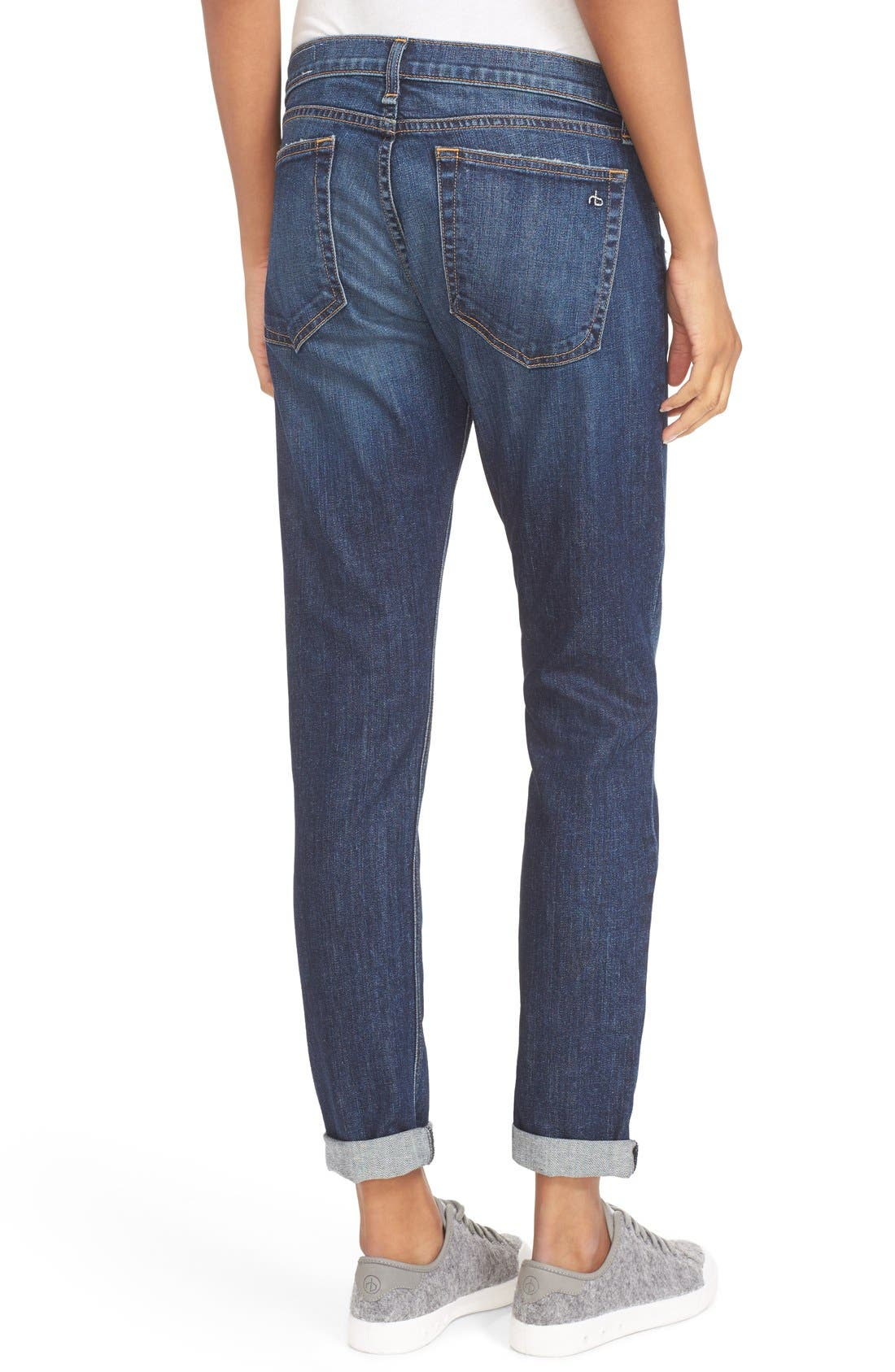 RAG & BONE, The Dre Slim Boyfriend Jeans, Alternate thumbnail 2, color, 423