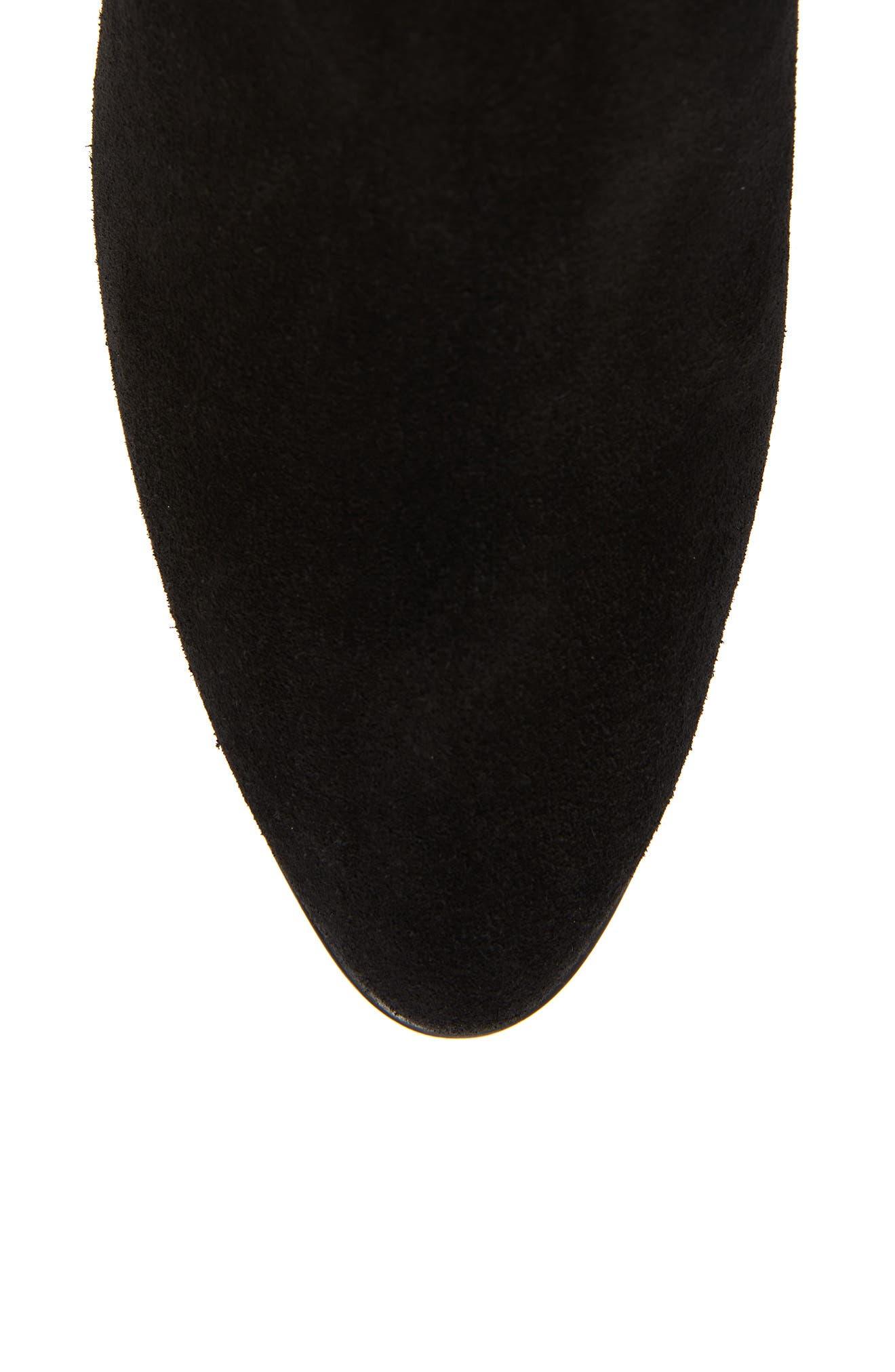 AQUATALIA, Dahliana Weatherproof Knee High Boot, Alternate thumbnail 5, color, BLACK