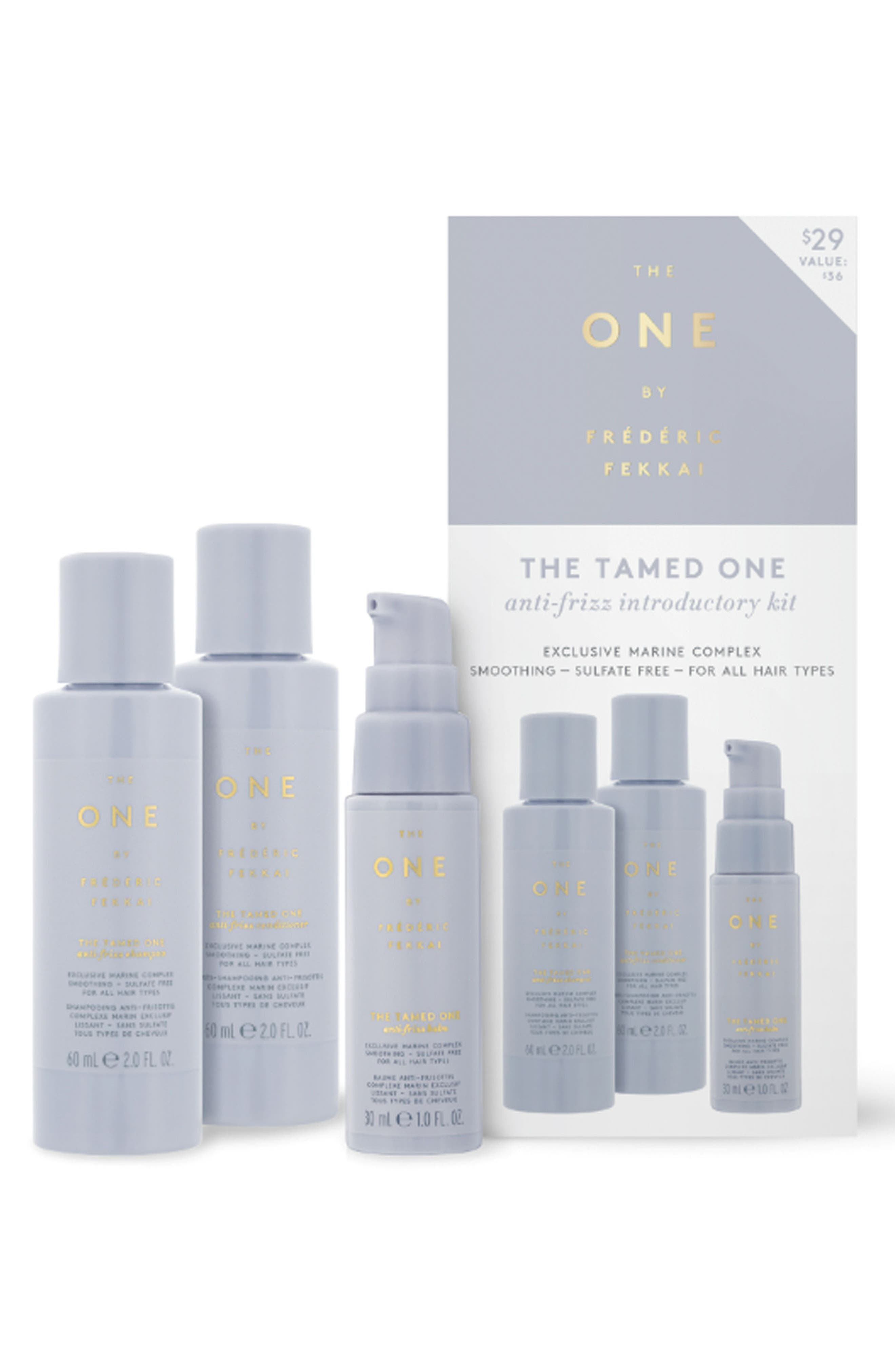 THE ONE BY FRÉDÉRIC FEKKAI, The Tamed One Anti-Frizz Introductory Kit, Main thumbnail 1, color, NO COLOR