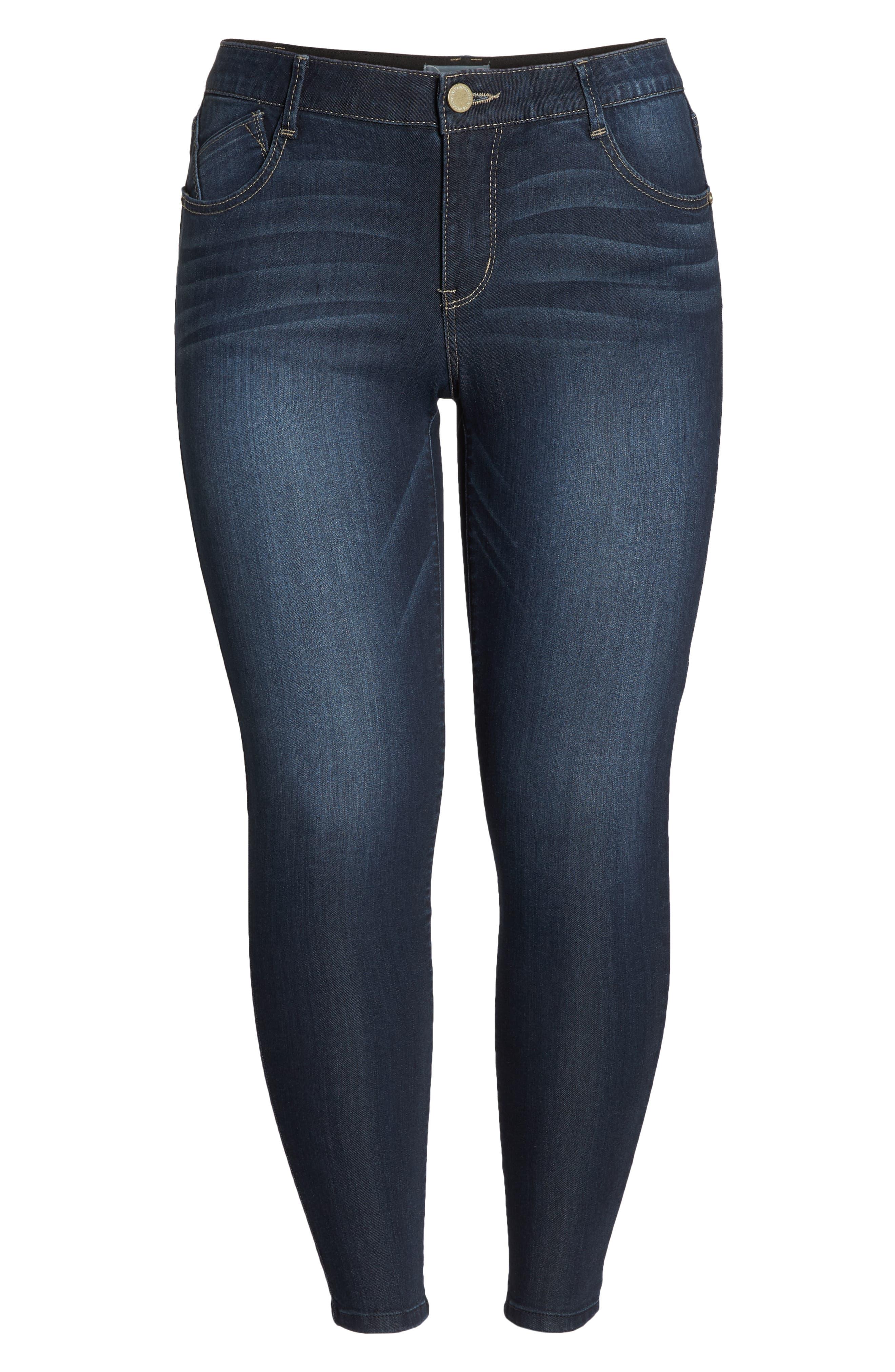 WIT & WISDOM, Ab-solution Stretch Skinny Jeans, Alternate thumbnail 6, color, INDIGO