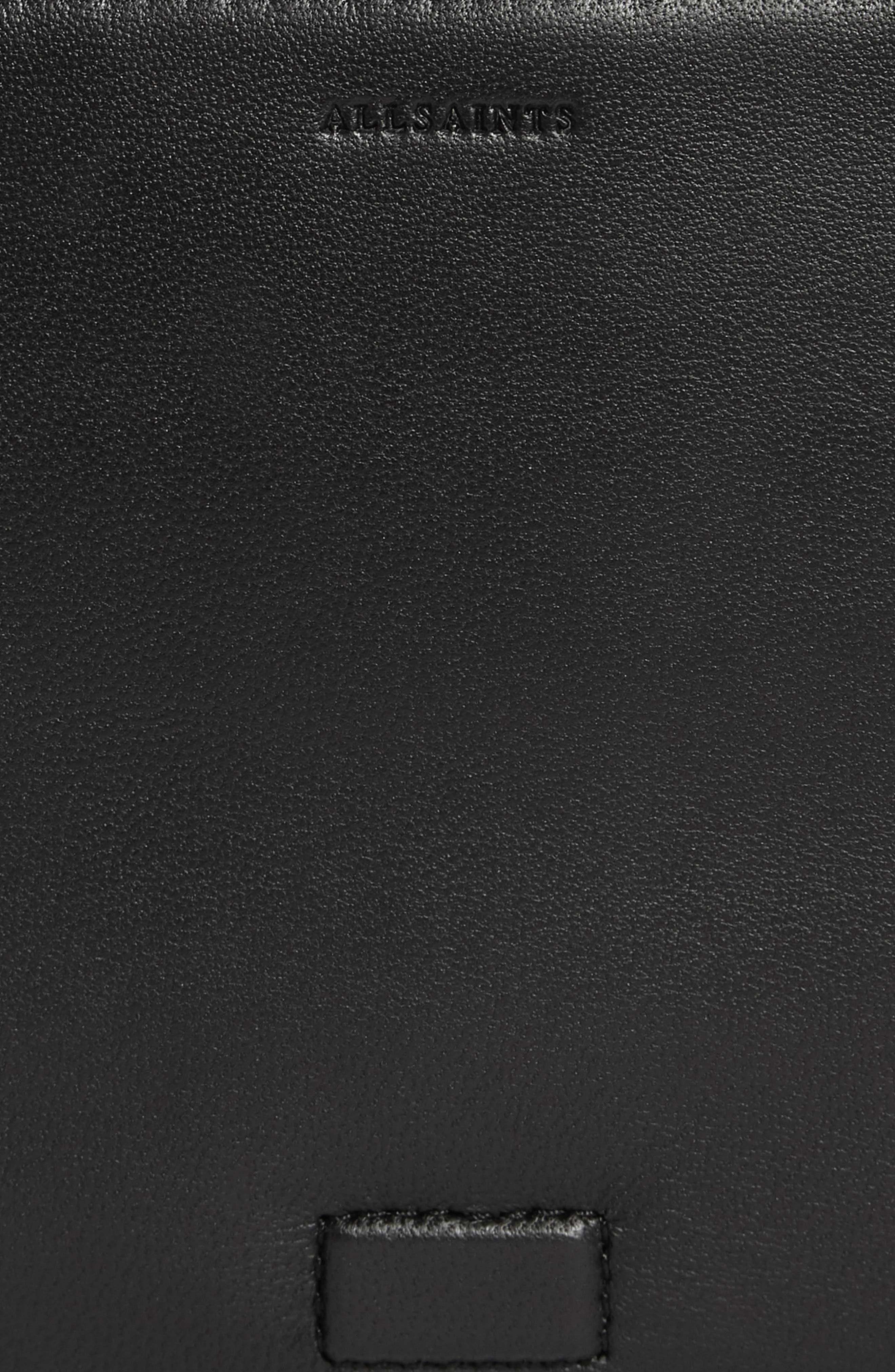 ALLSAINTS, Versailles Leather & Genuine Shearling Shoulder Bag, Alternate thumbnail 5, color, CAMEL