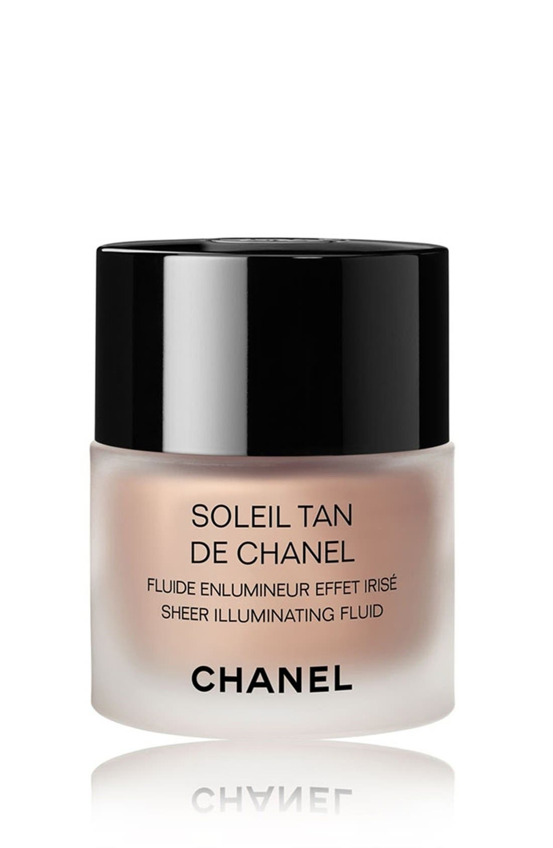 CHANEL, SOLEIL TAN DE CHANEL<br />Sheer Illuminating Fluid, Main thumbnail 1, color, SUNKISSED