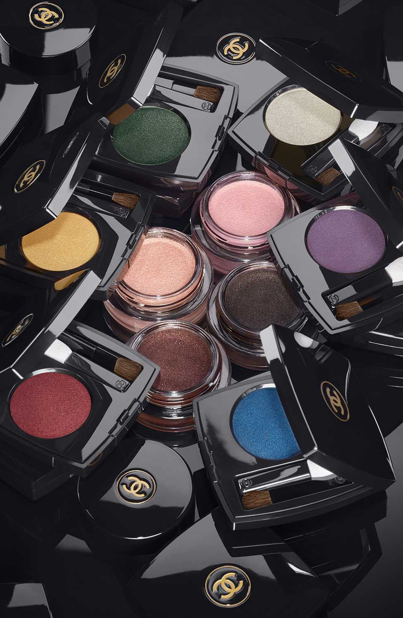 CHANEL, OMBRE PREMIÈRE<br />Longwear Cream Eyeshadow, Alternate thumbnail 3, color, 812 NOIR PETROLE