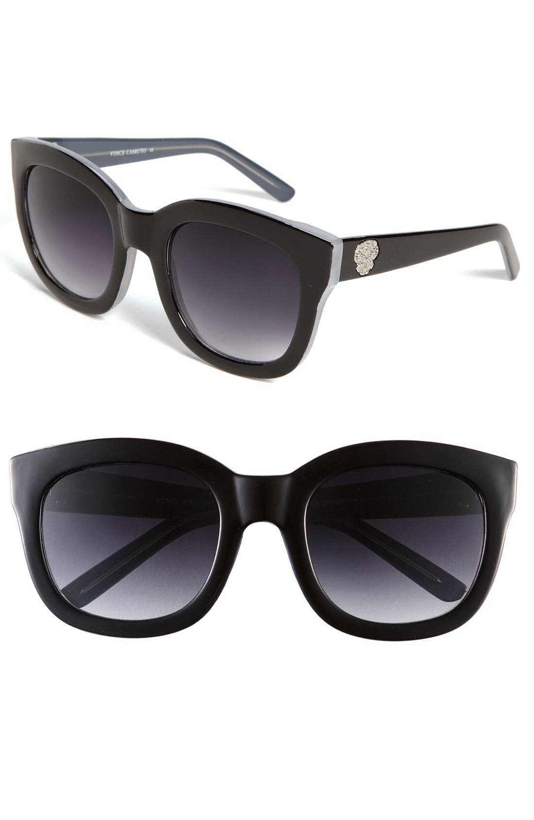 VINCE CAMUTO, 54mm Oversized Cat Eye Sunglasses, Main thumbnail 1, color, 001