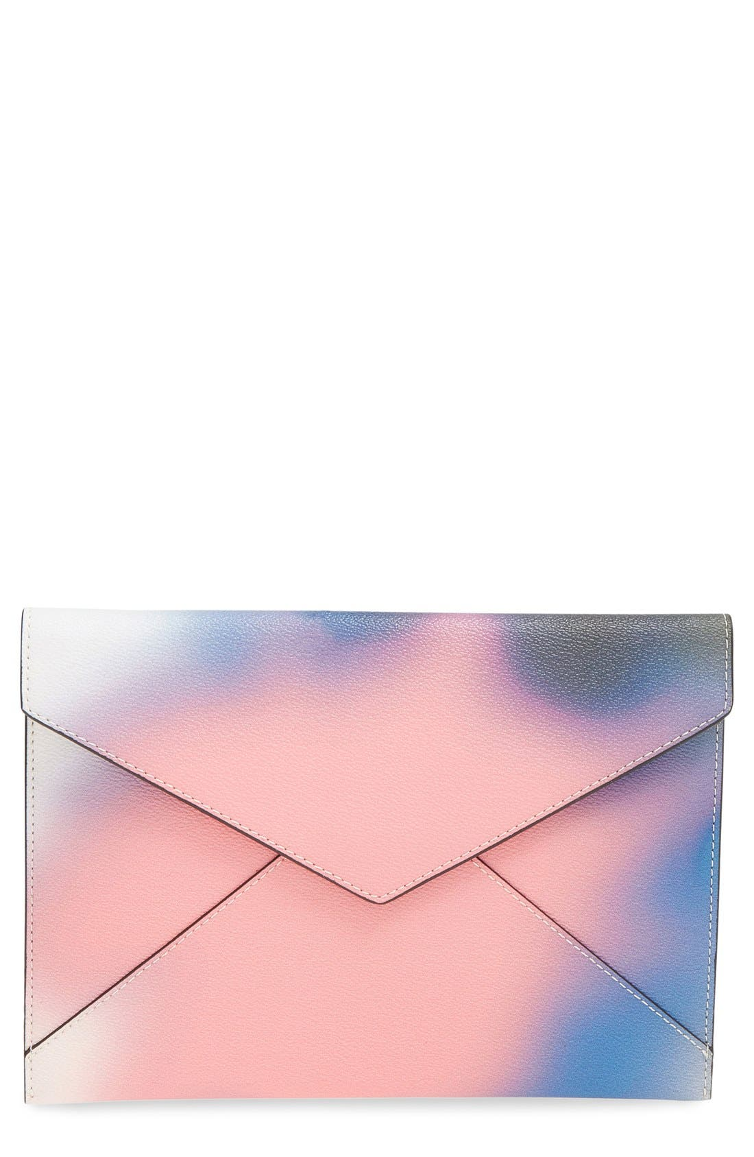 REBECCA MINKOFF, 'Leo' Envelope Clutch, Main thumbnail 1, color, 650