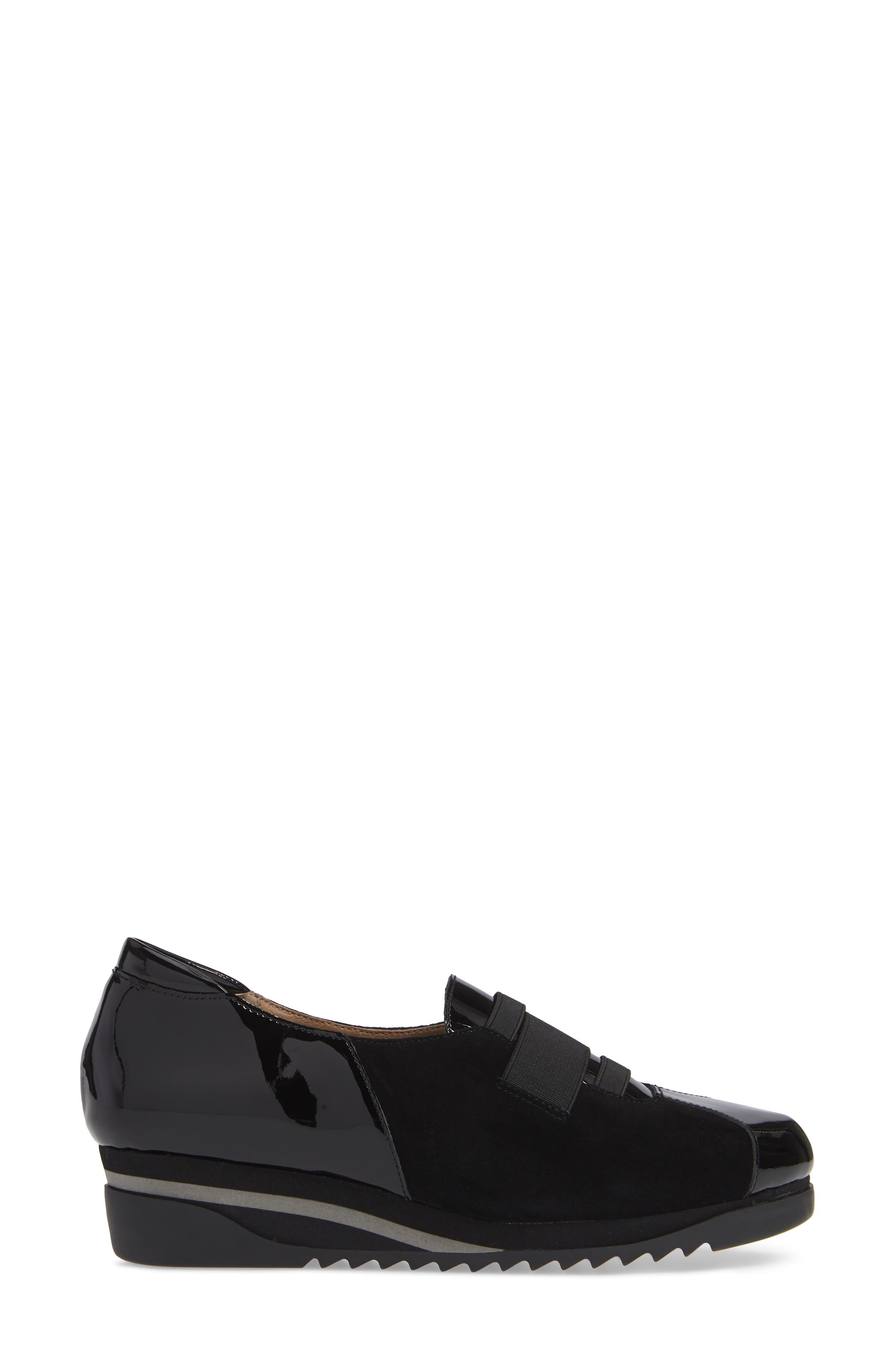 BETTYE MULLER CONCEPTS, Taytum Sneaker, Alternate thumbnail 3, color, BLACK SUEDE