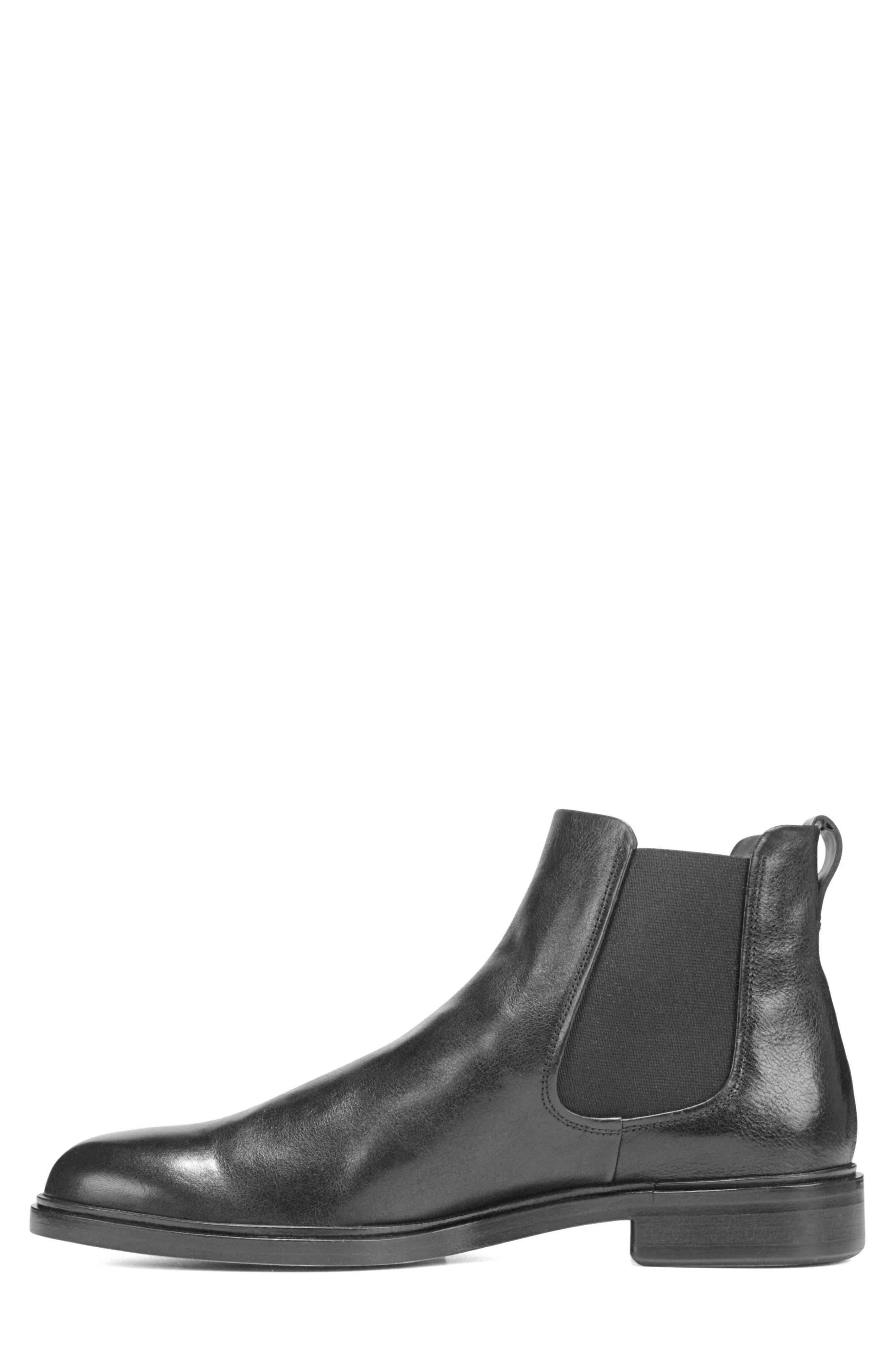 VINCE, Burroughs Chelsea Boot, Alternate thumbnail 3, color, BLACK
