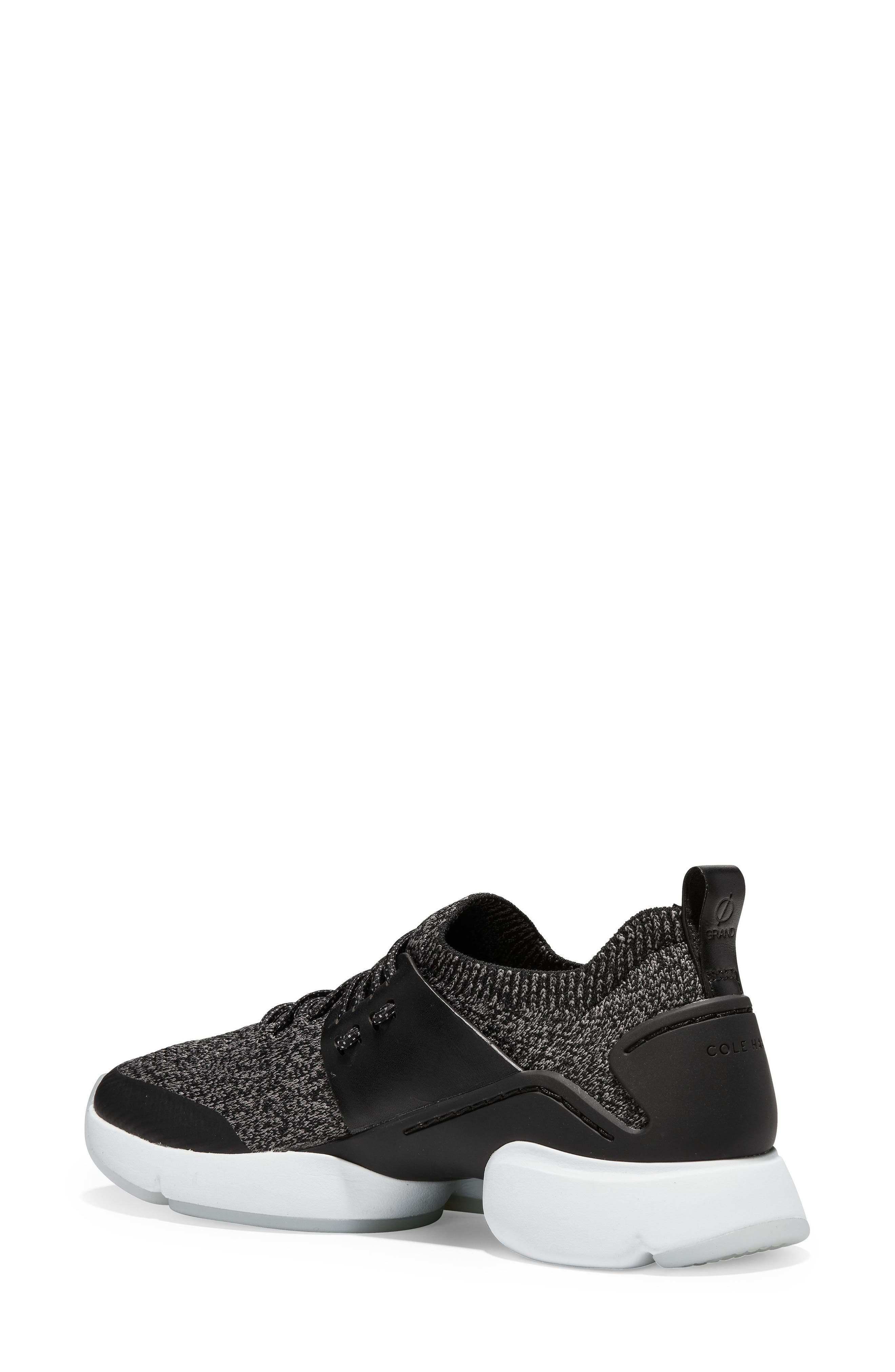 COLE HAAN, ZeroGrand All Day Trainer Sneaker, Alternate thumbnail 2, color, BLACK LEATHER