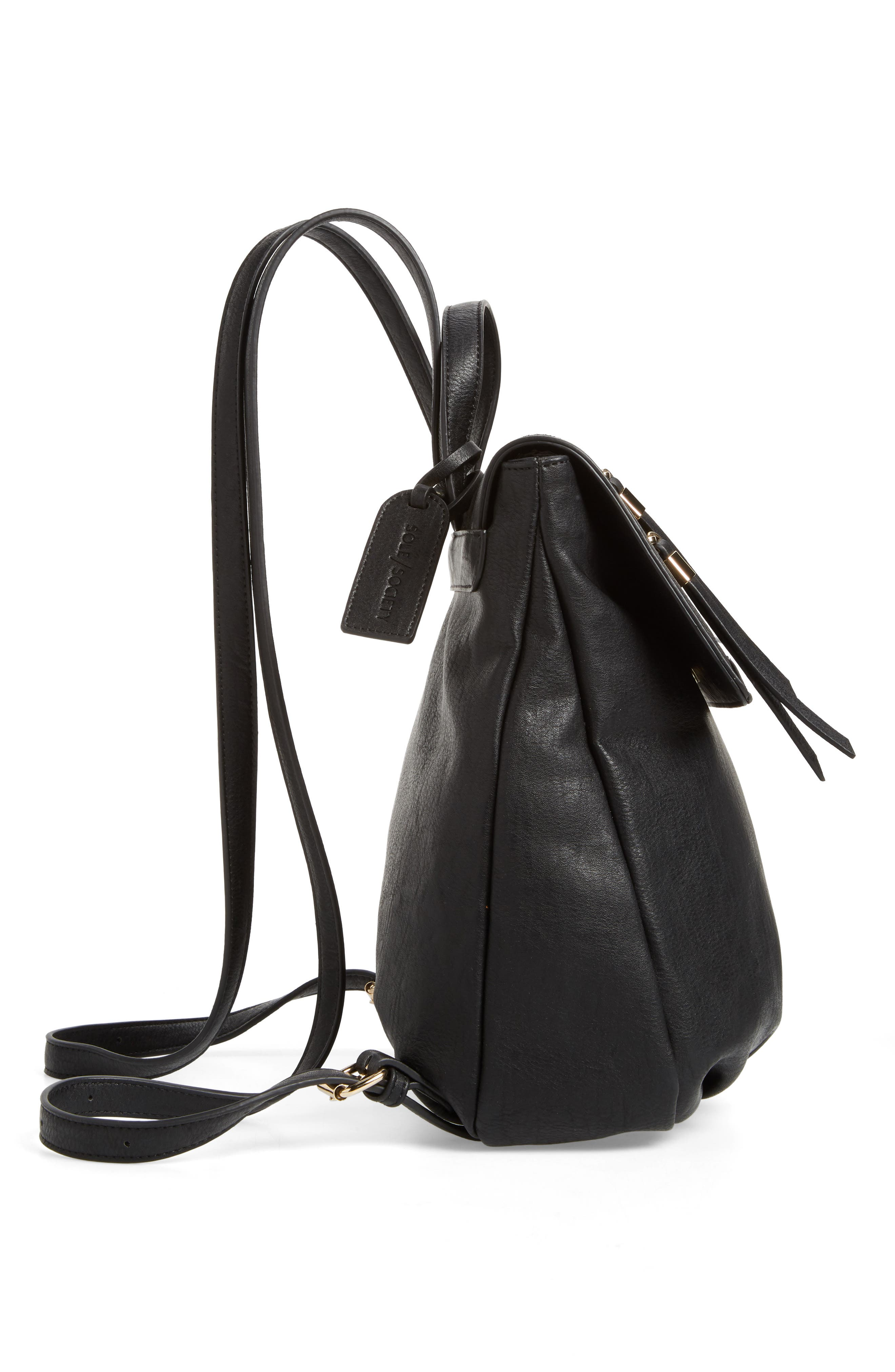 SOLE SOCIETY, Chele Backpack, Alternate thumbnail 6, color, 001