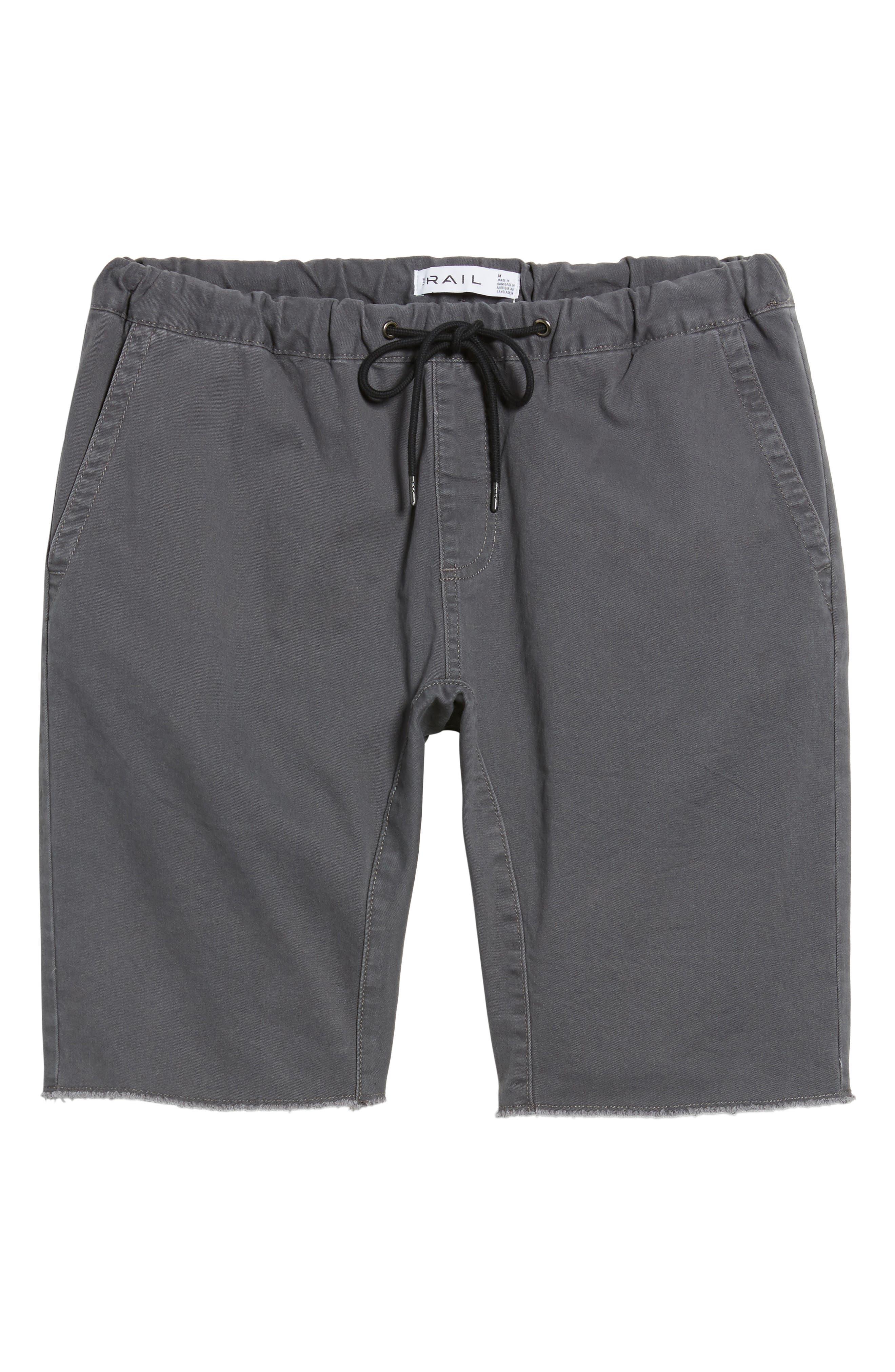 THE RAIL, Jogger Shorts, Alternate thumbnail 6, color, GREY ONYX