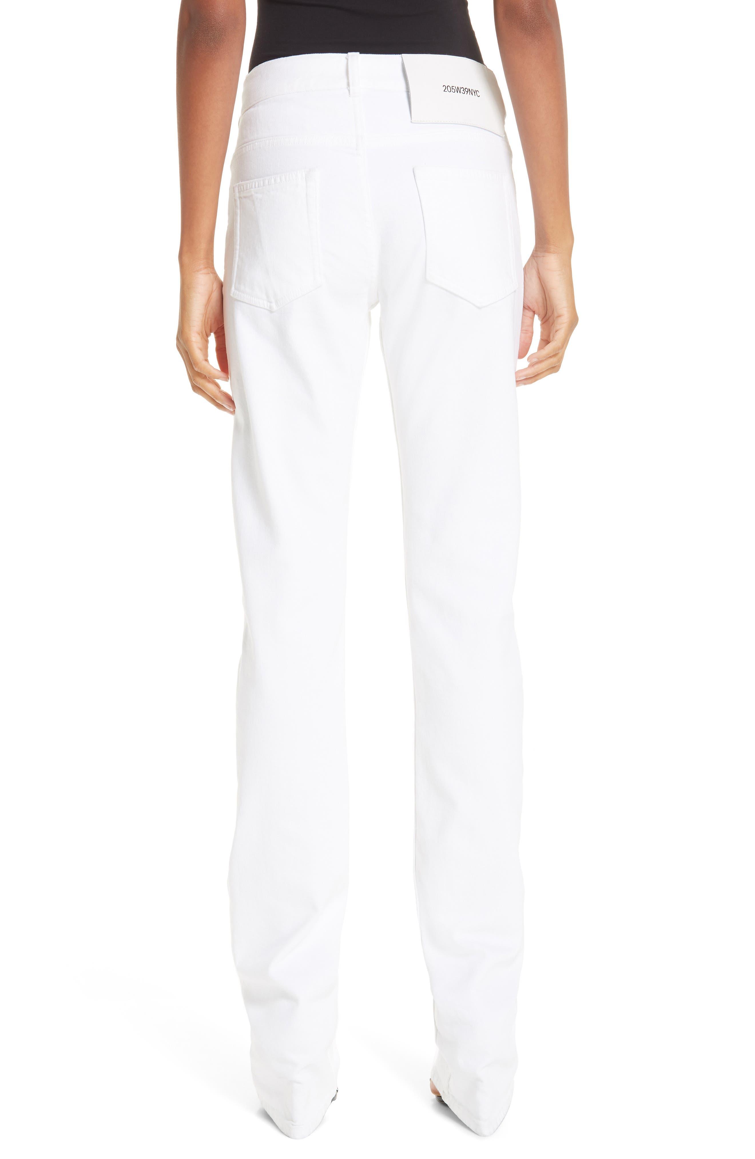 CALVIN KLEIN 205W39NYC, Straight Leg Jeans, Alternate thumbnail 2, color, OPTIC WHITE