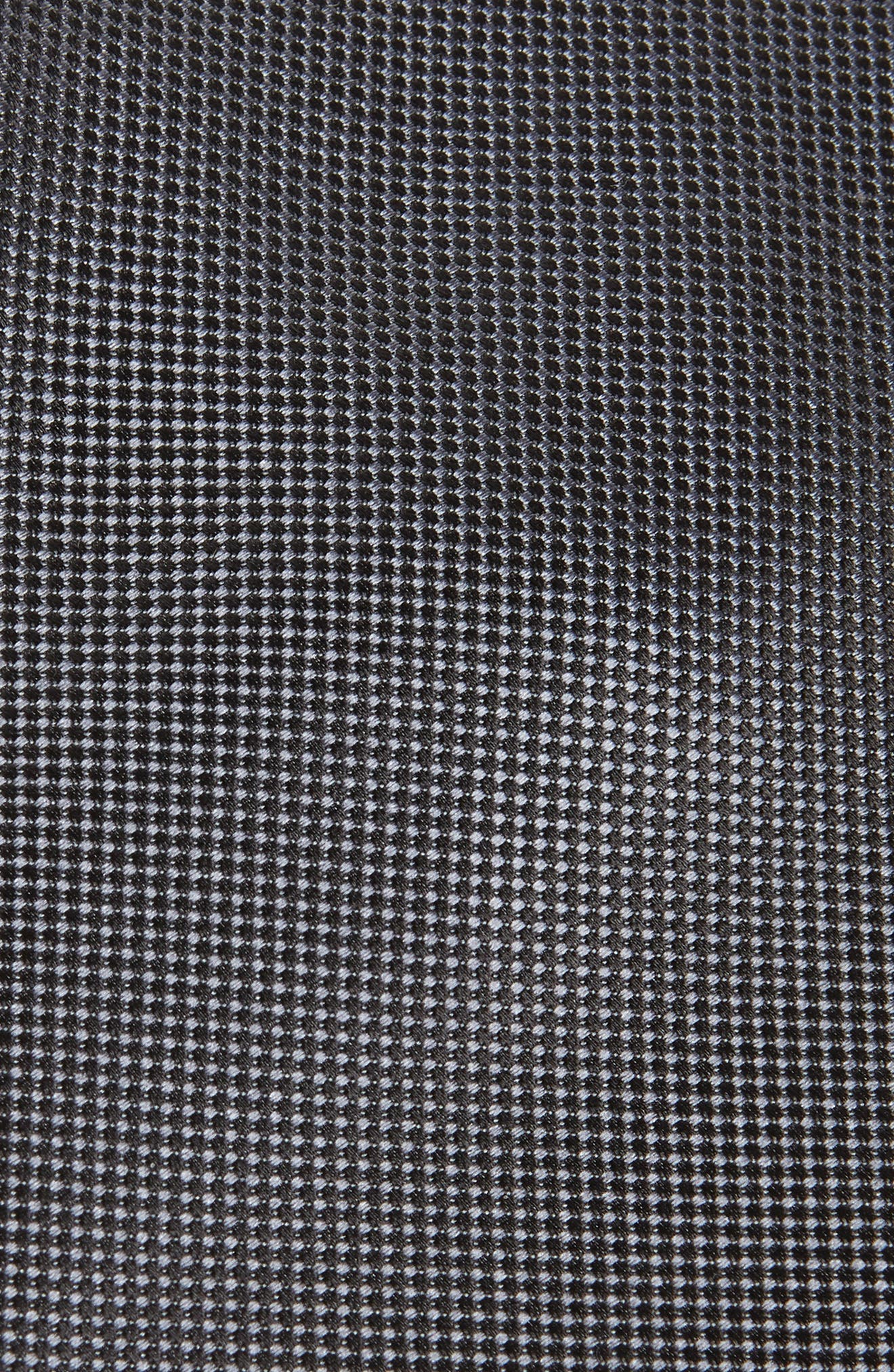 CANALI, Solid Silk Tie, Alternate thumbnail 2, color, BLACK