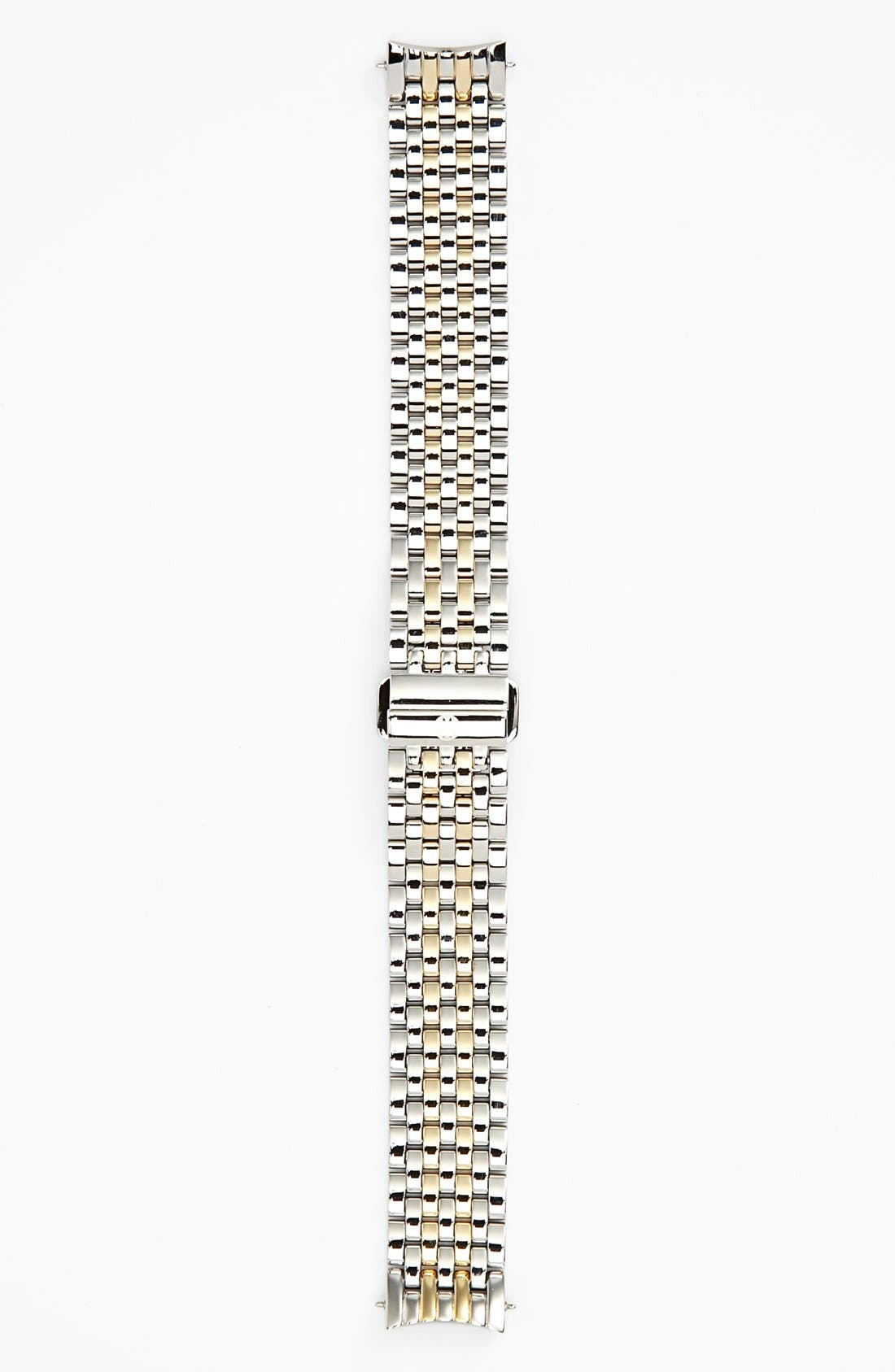 MICHELE, Serein 16 16mm Two-Tone Bracelet Watchband, Alternate thumbnail 7, color, SILVER/ GOLD