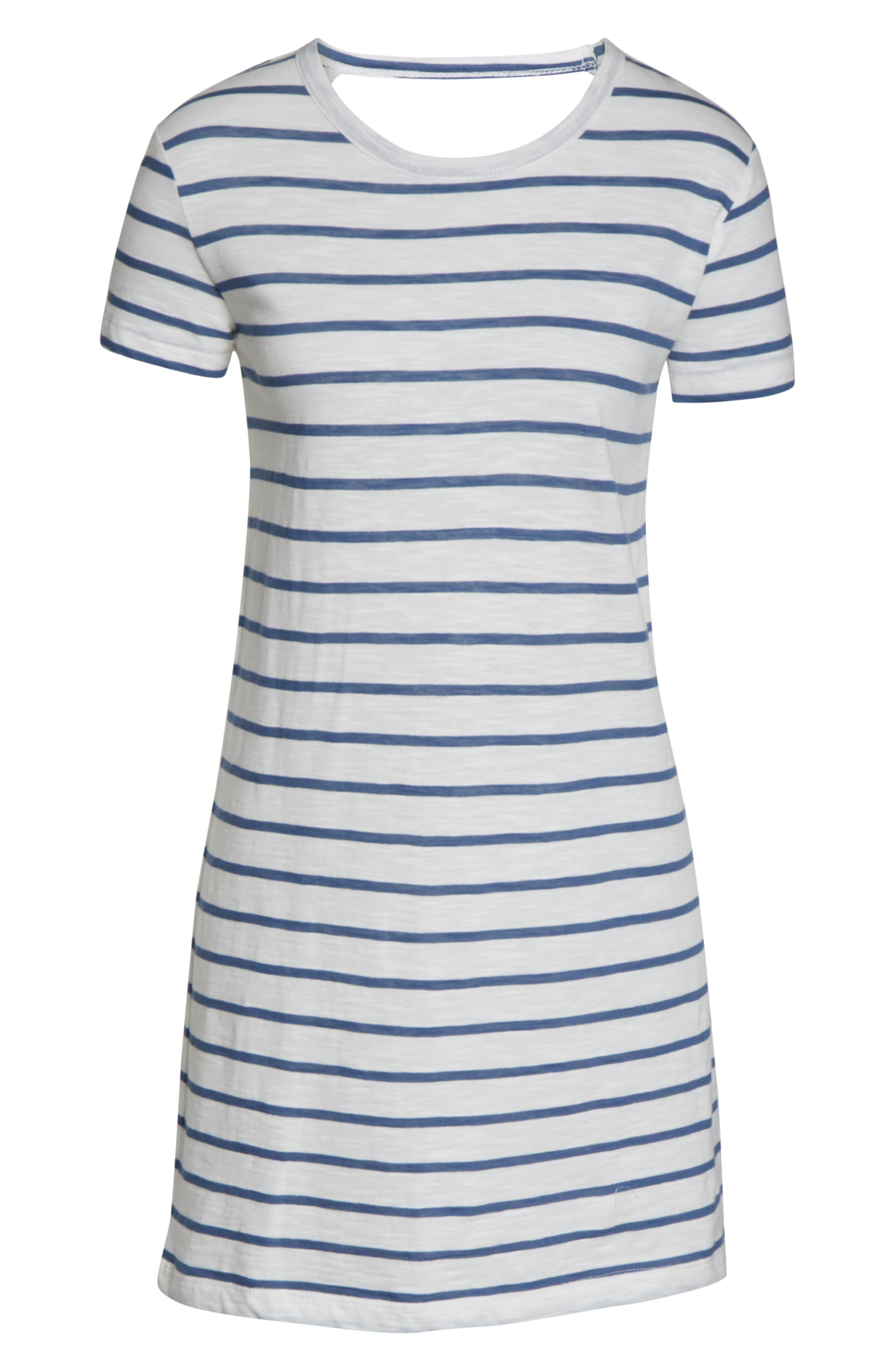 RIP CURL, Surf Essentials T-Shirt Dress, Alternate thumbnail 5, color, VANILLA