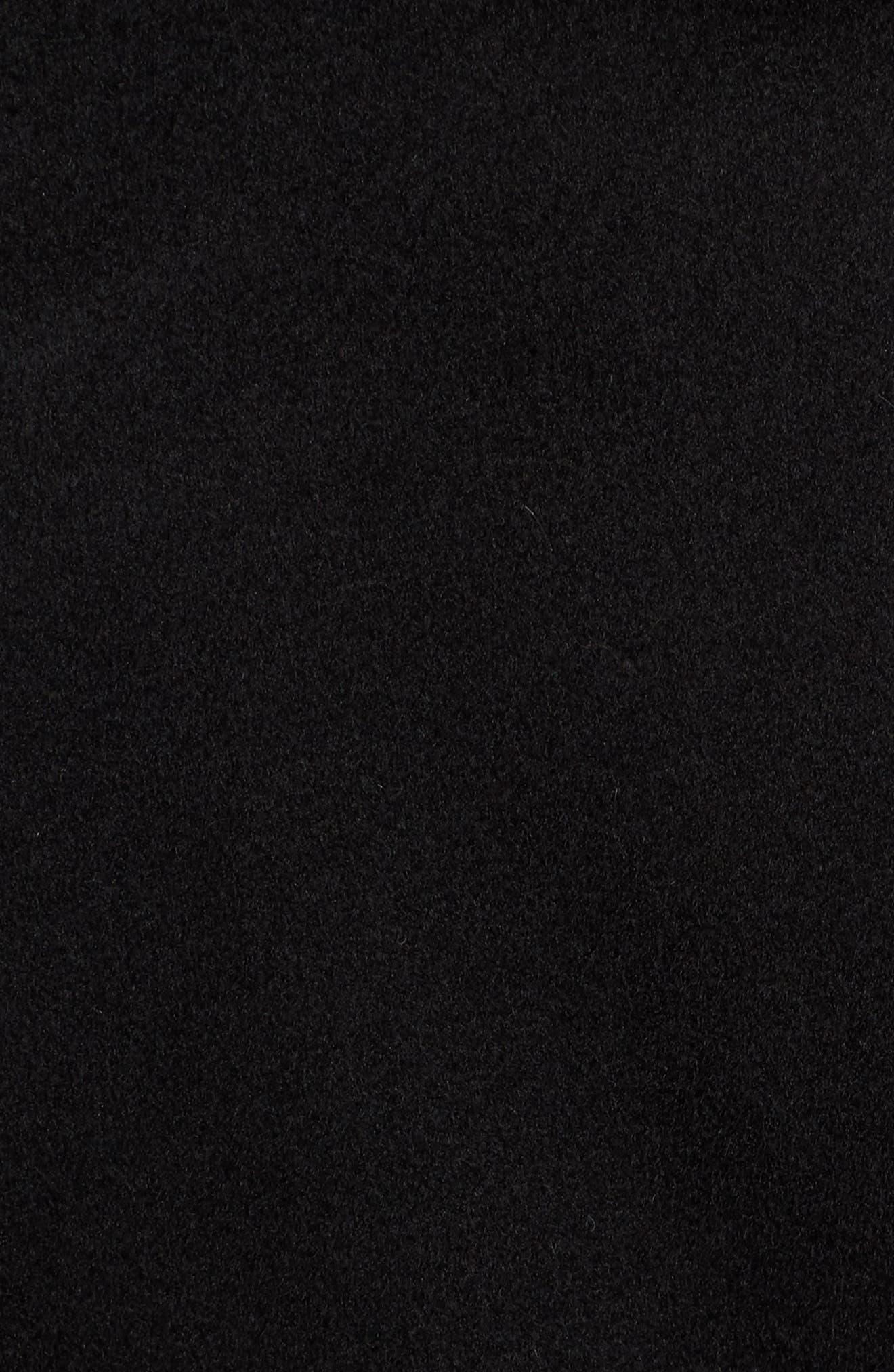 FLEURETTE, Loro Piana Wool Wrap Coat, Alternate thumbnail 7, color, 001