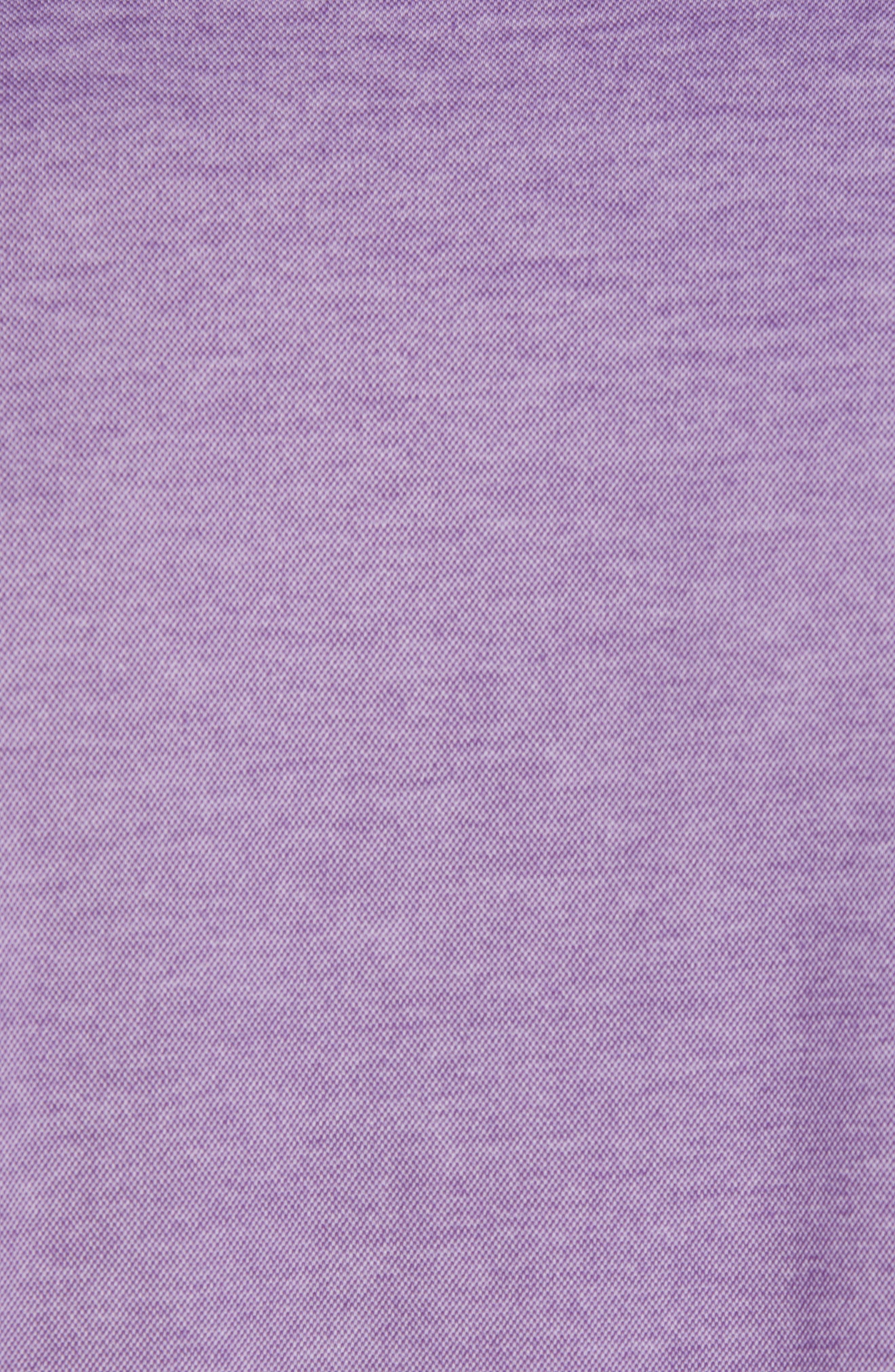 ZACHARY PRELL, Caldwell Piqué Regular Fit Polo, Alternate thumbnail 5, color, PURPLE