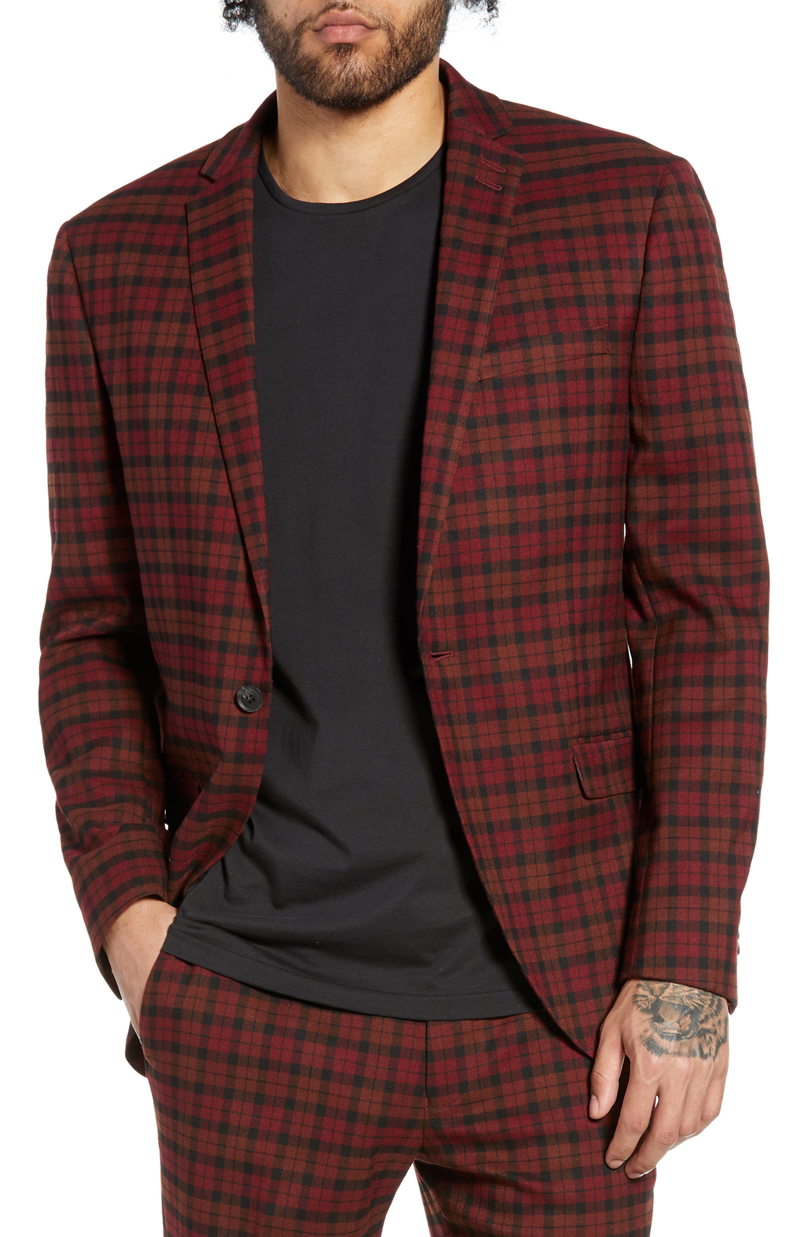 TOPMAN Thorn Slim Fit Suit Jacket, Main, color, 600