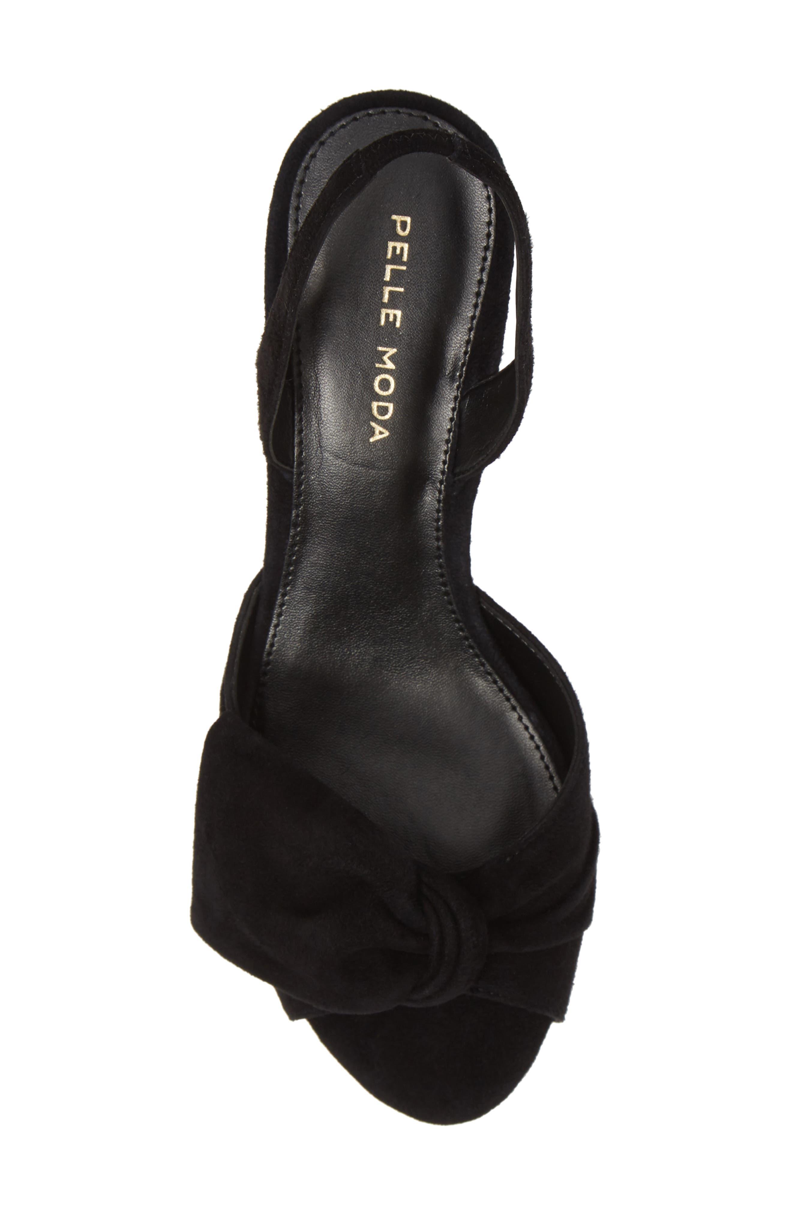 PELLE MODA, Lovi Sandal, Alternate thumbnail 5, color, BLACK